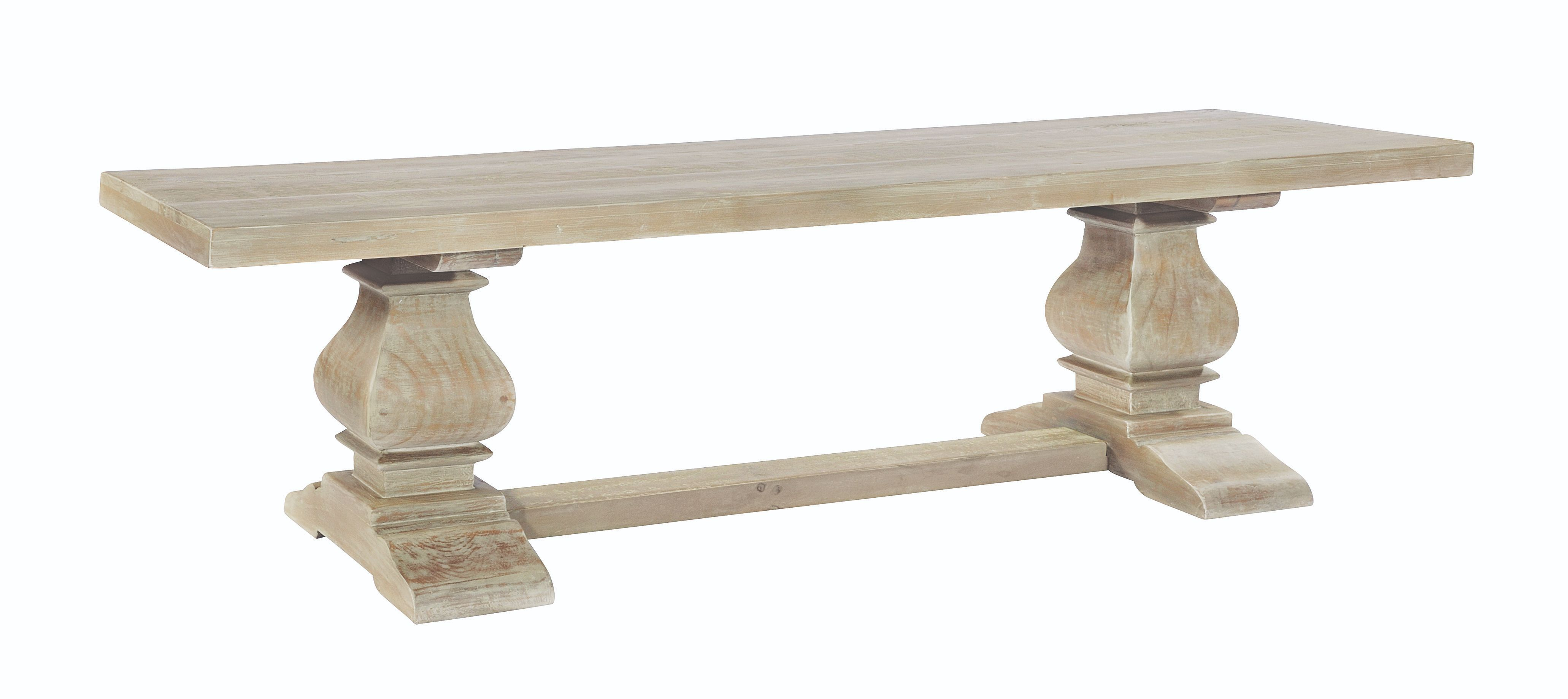BROUGHTON DINING BENCH In Lime-washed Timber