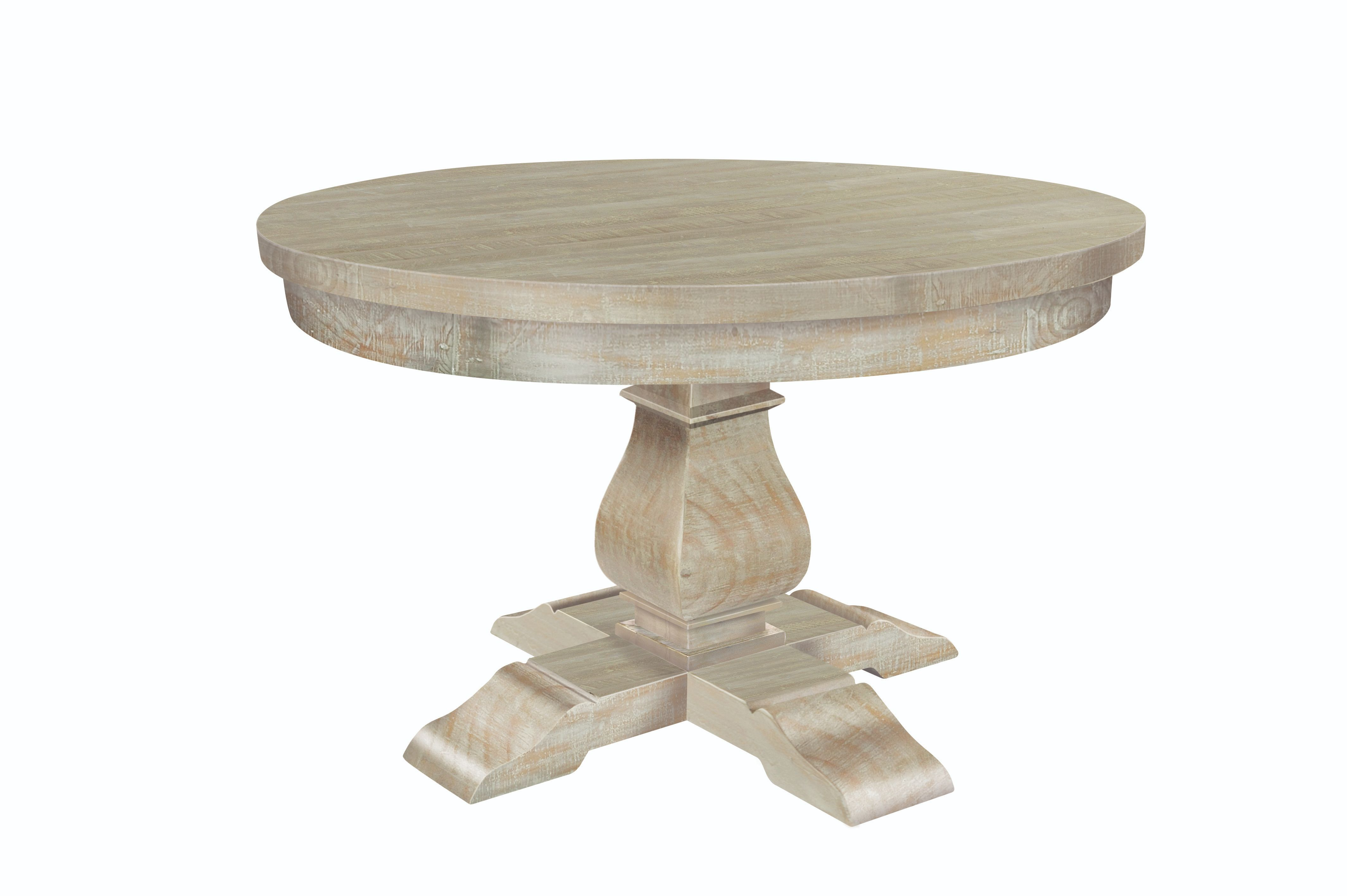 BROUGHTON ROUND DINING TABLE In Lime-washed Timber