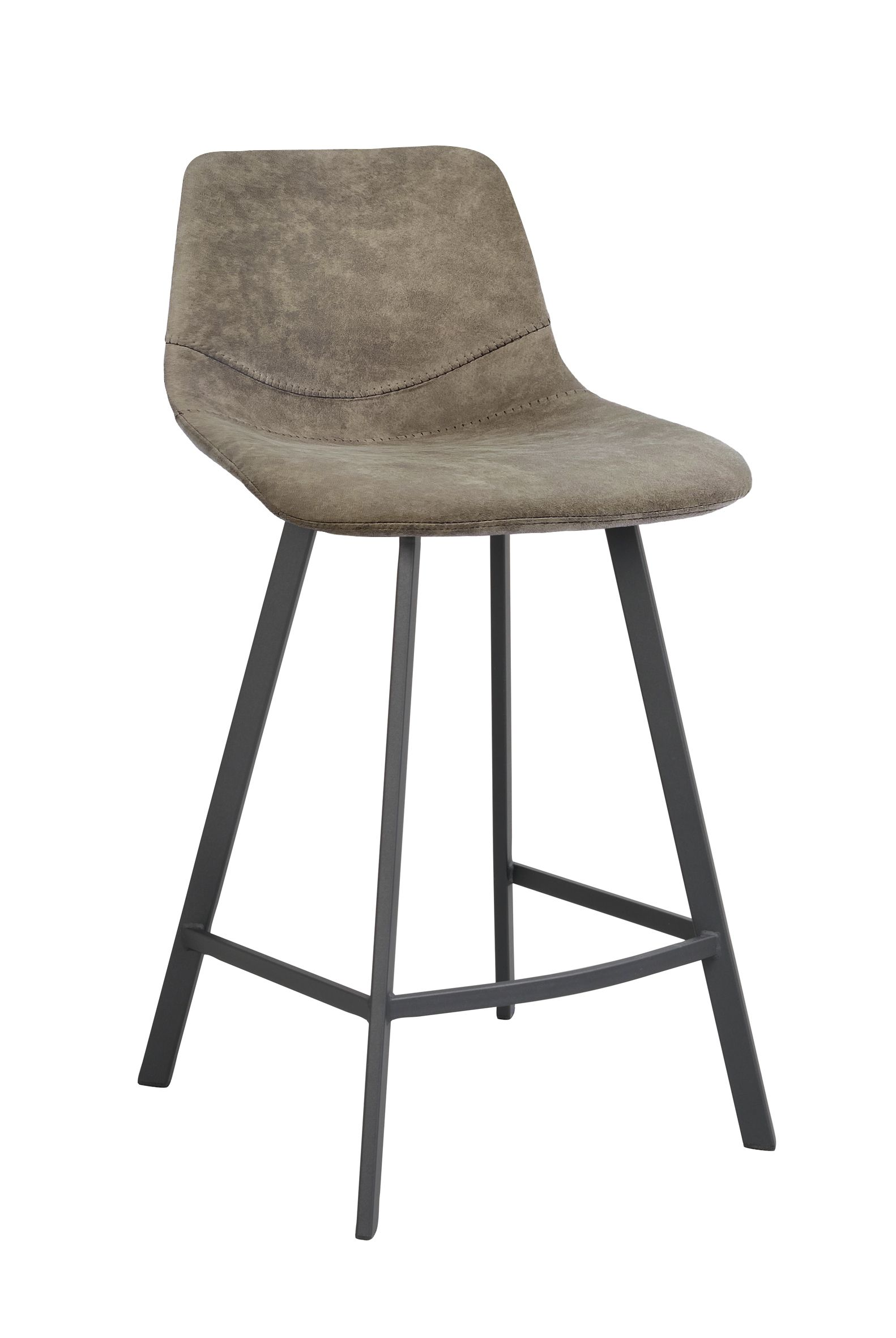 EDDISON AUBURN STOOL Putty PU Leather