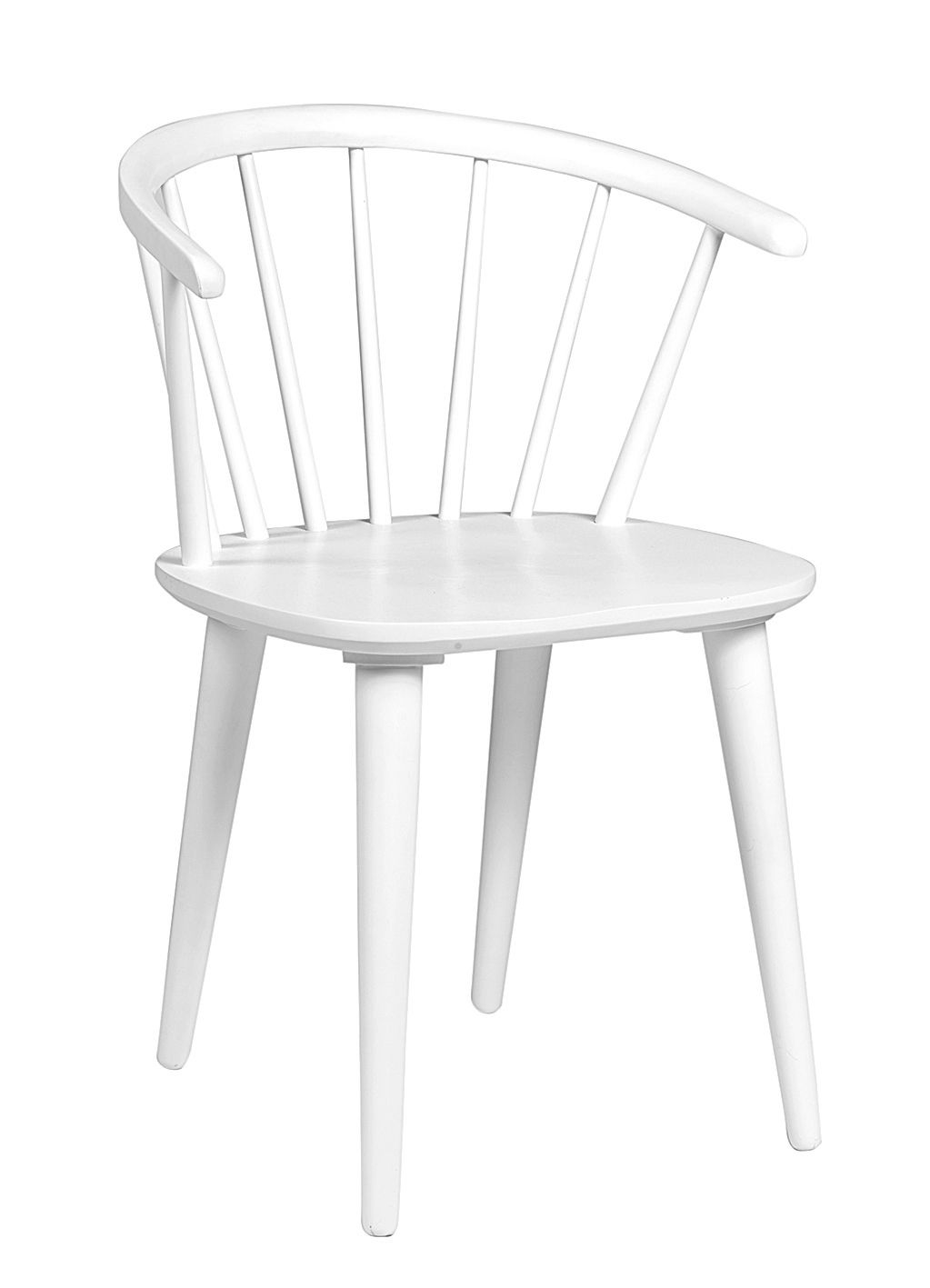 CARMEN CHAIR White Solid Rubberwood Chair