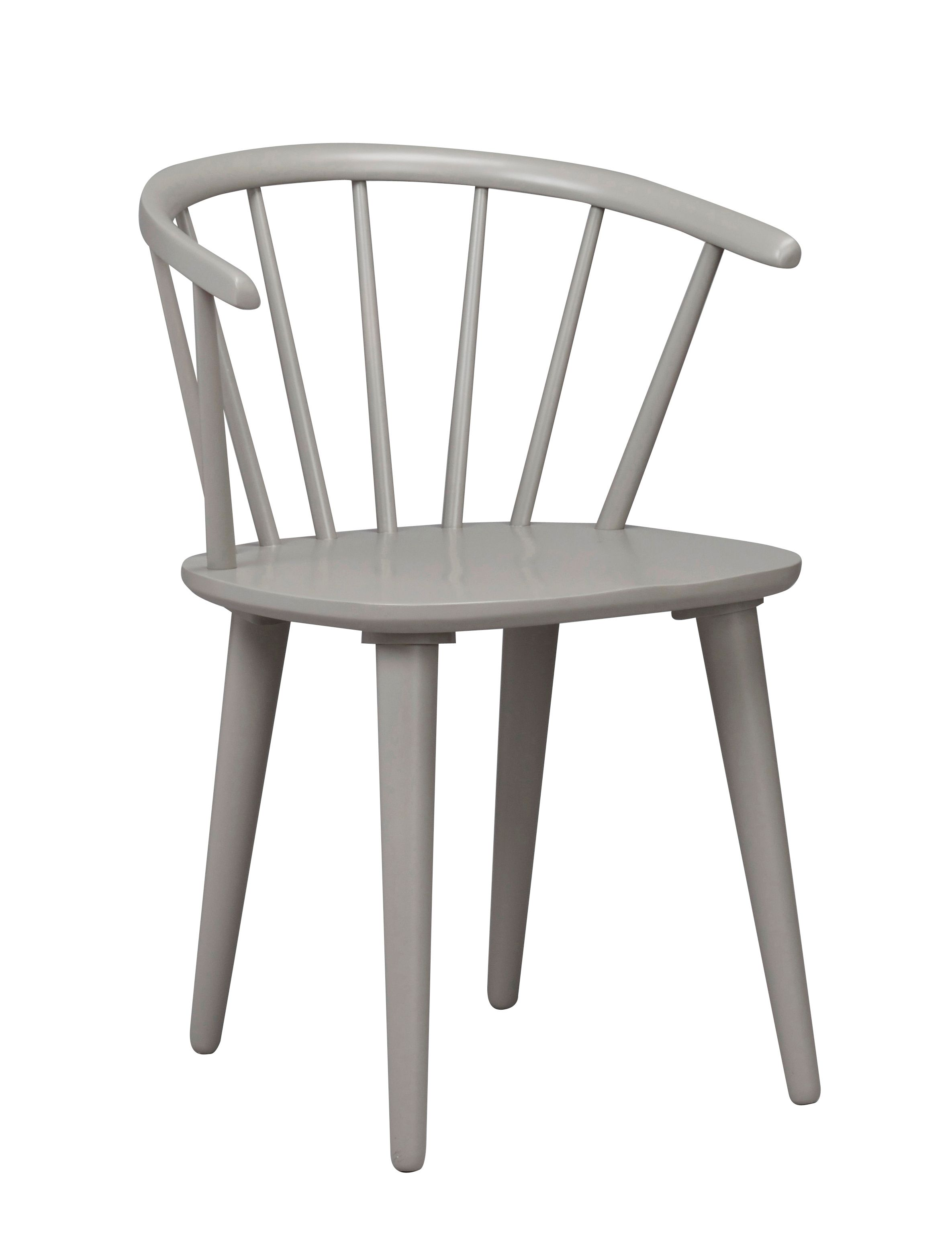 CARMEN CHAIR Grey Solid Rubberwood Chair