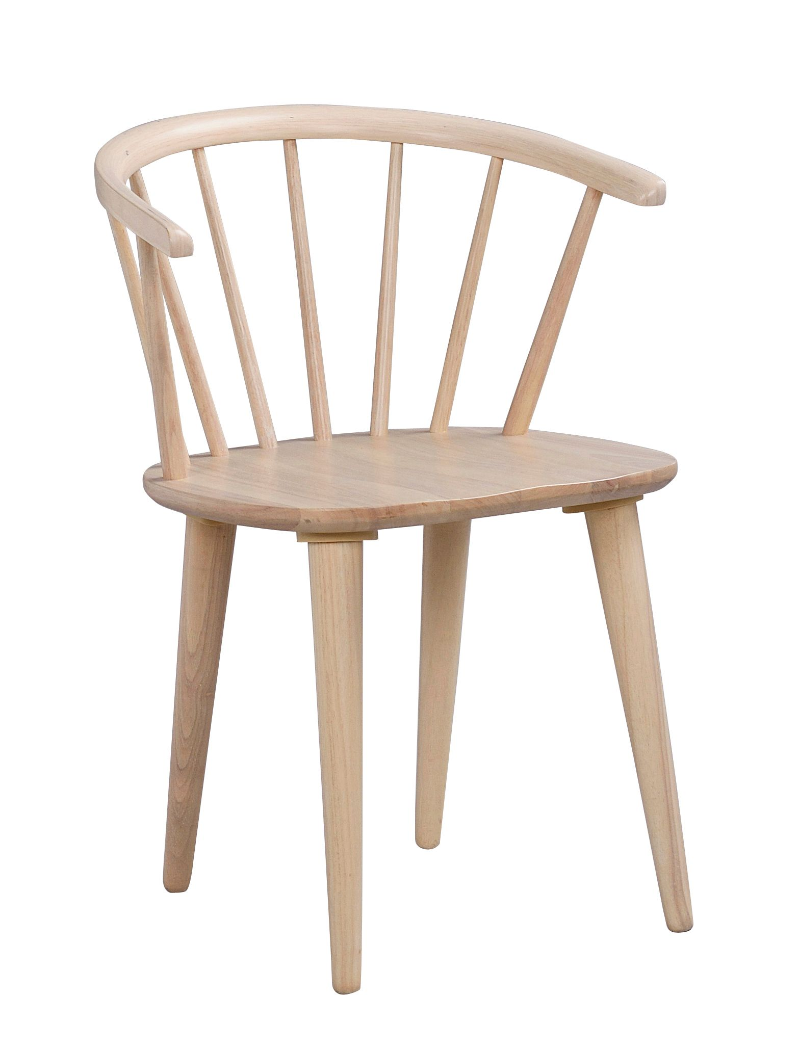 CARMEN CHAIR Whitewash Solid Rubberwood Chair