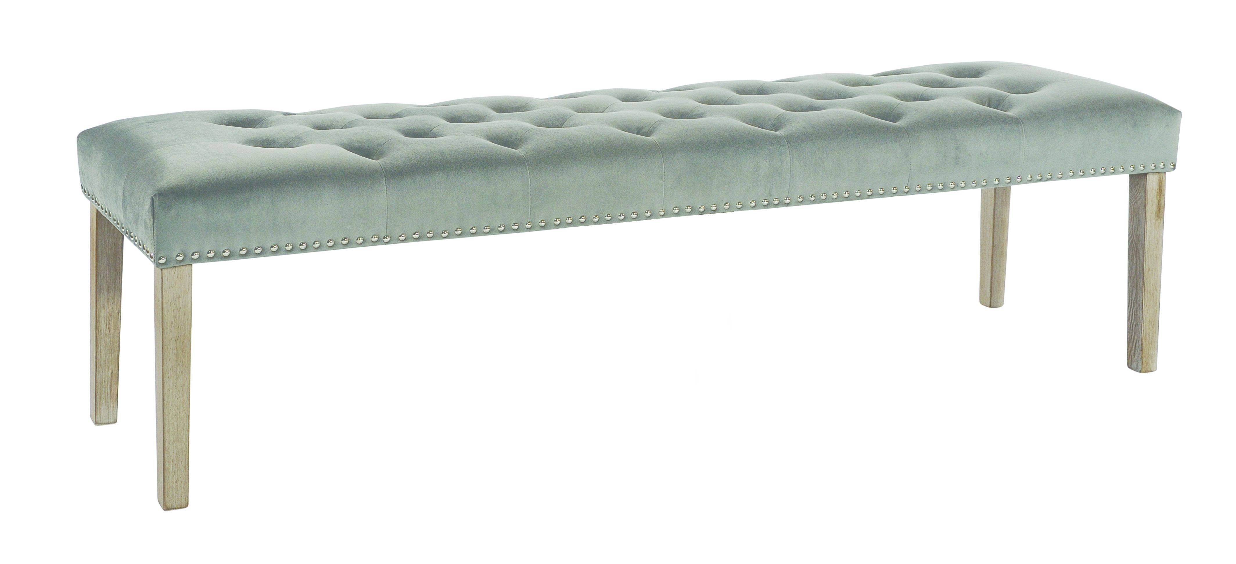 LARGE VICKY BENCH Grey Upholstered bench
