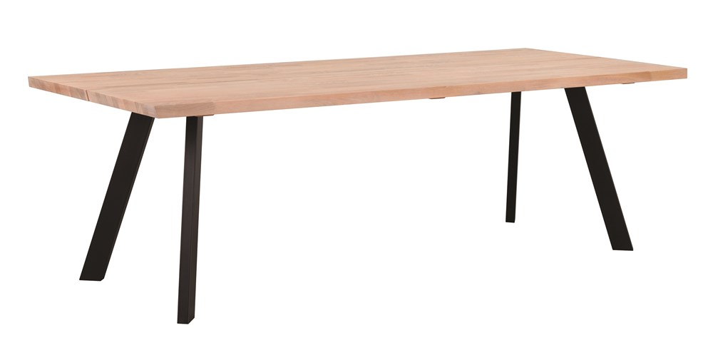 FRED 170cm Dining Table in White Pigmented Oak