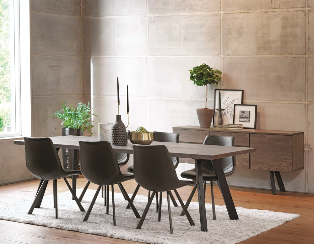 FRED 240cm Dining Table in Smoke Coloured Pigmented Oak.