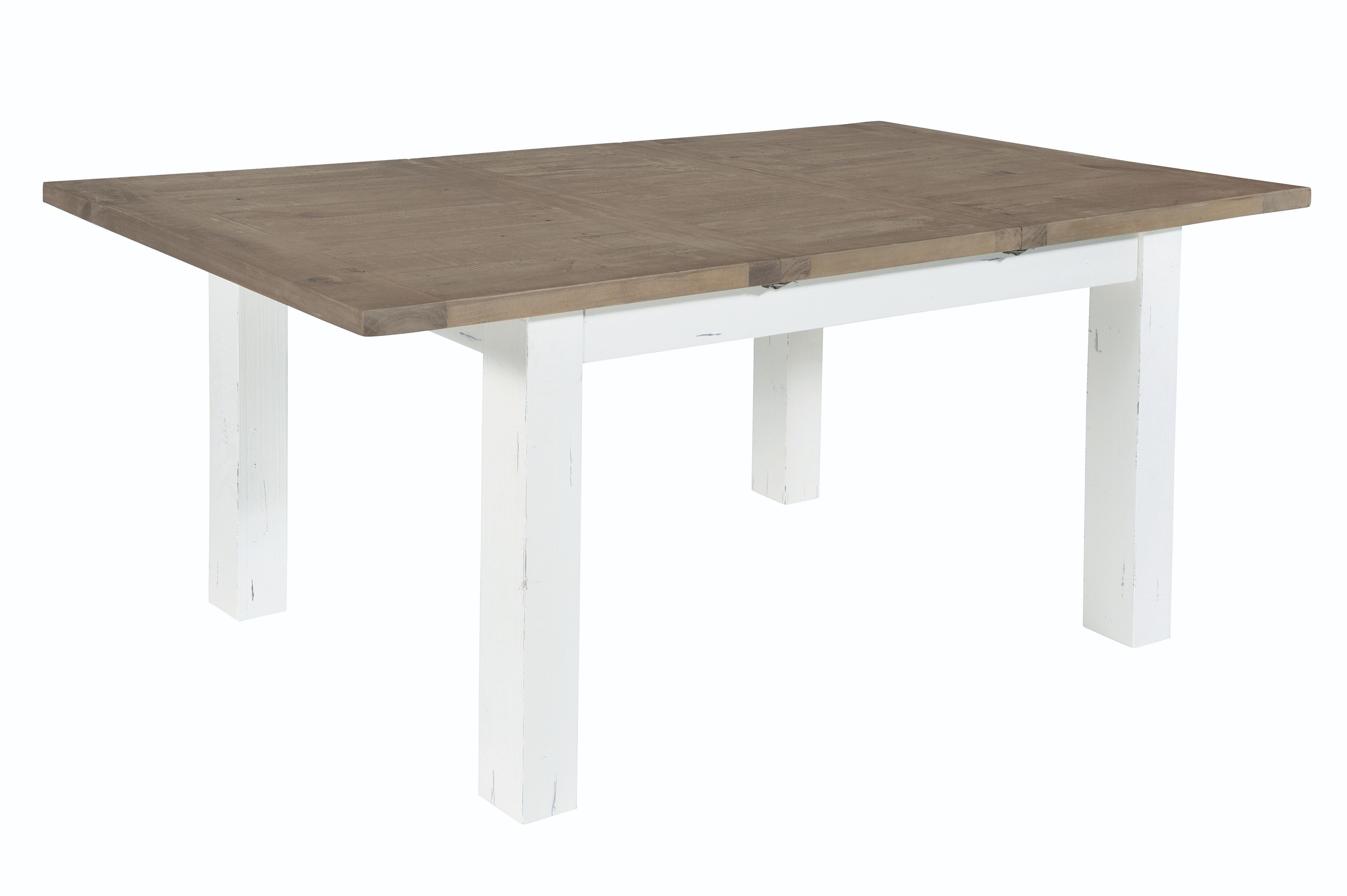 PURBECK 140 EXTENDING DINING TABLE Distressed Paint & Driftwood