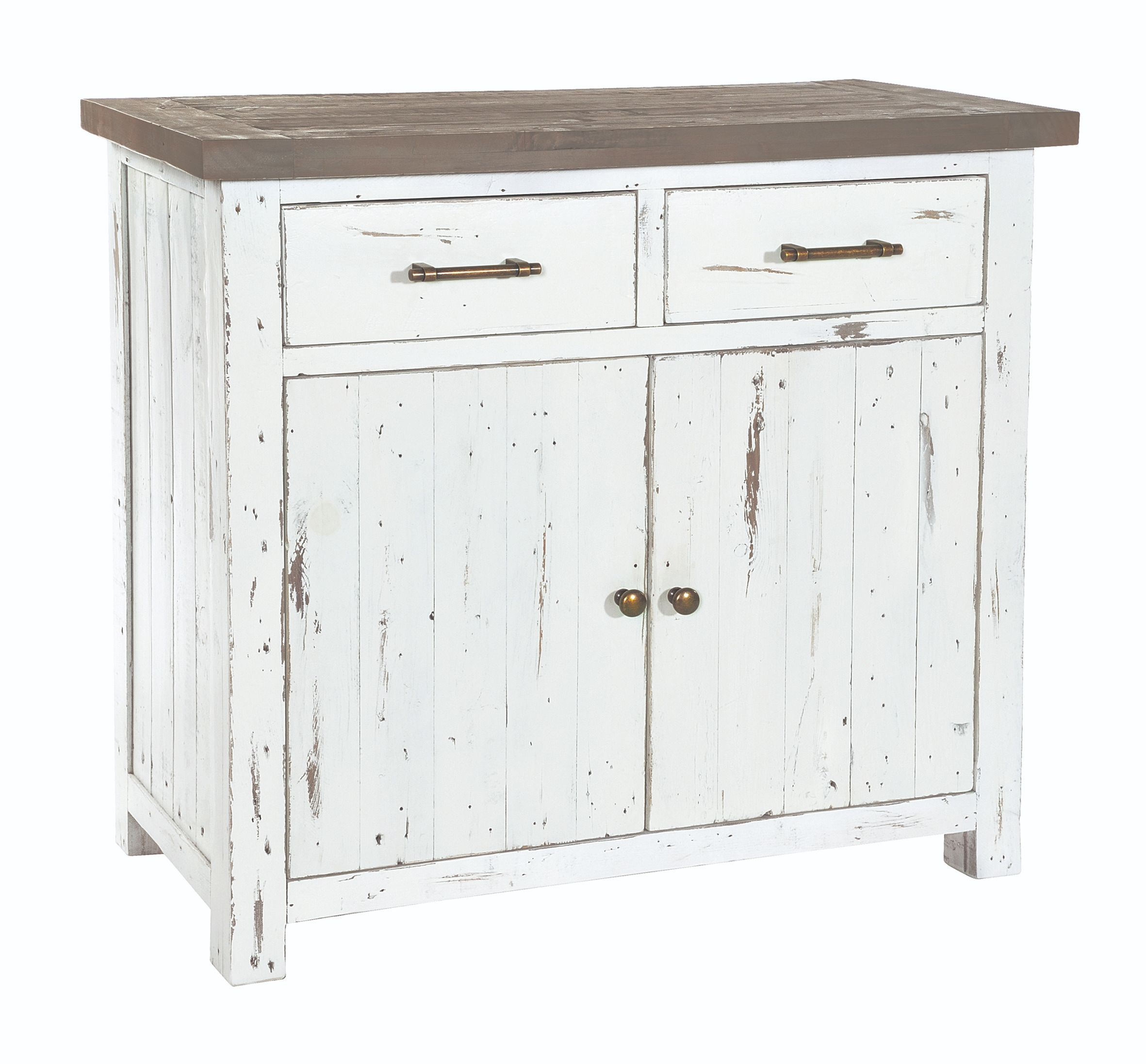 PURBECK SMALL SIDEBOARD Distressed Paint & Driftwood