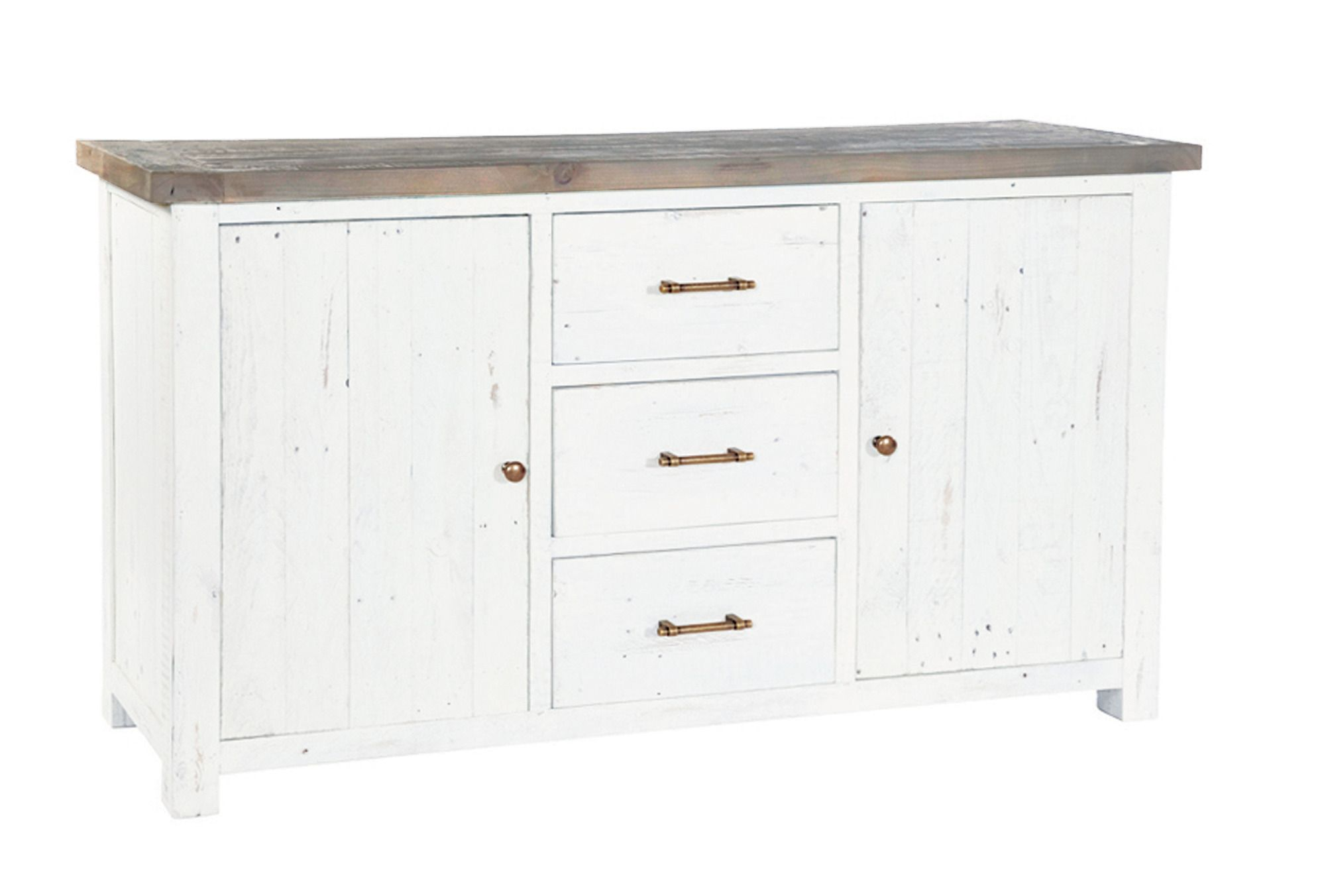 PURBECK LARGE SIDEBOARD Distressed Paint & Driftwood