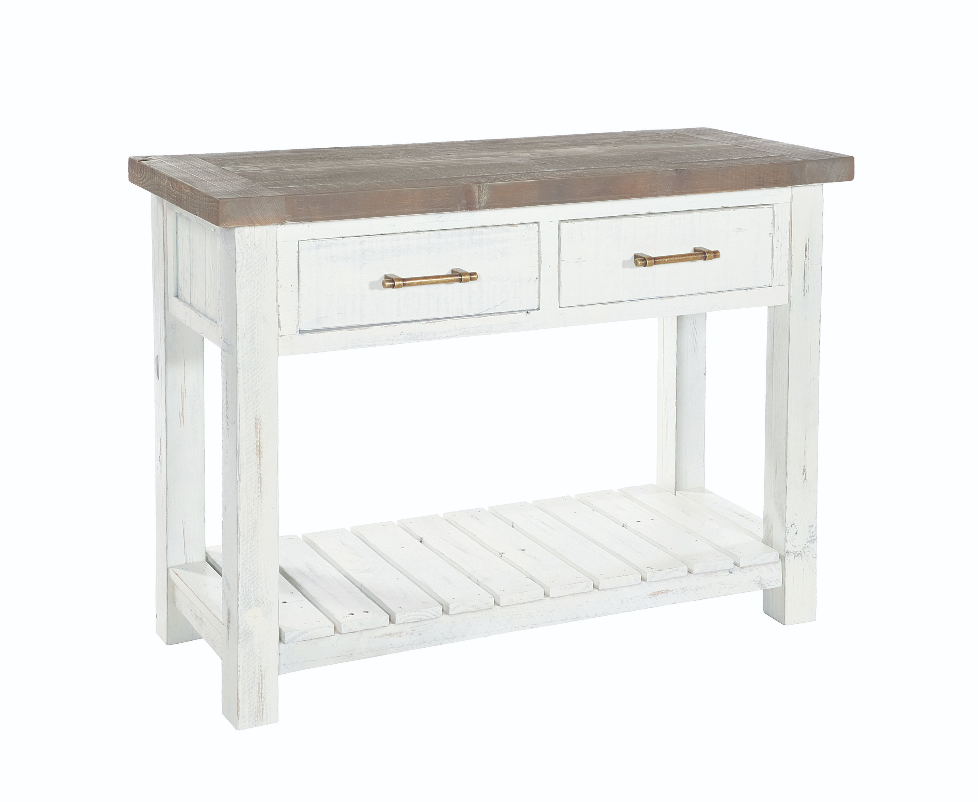 PURBECK CONSOLE TABLE Distressed Paint & Driftwood