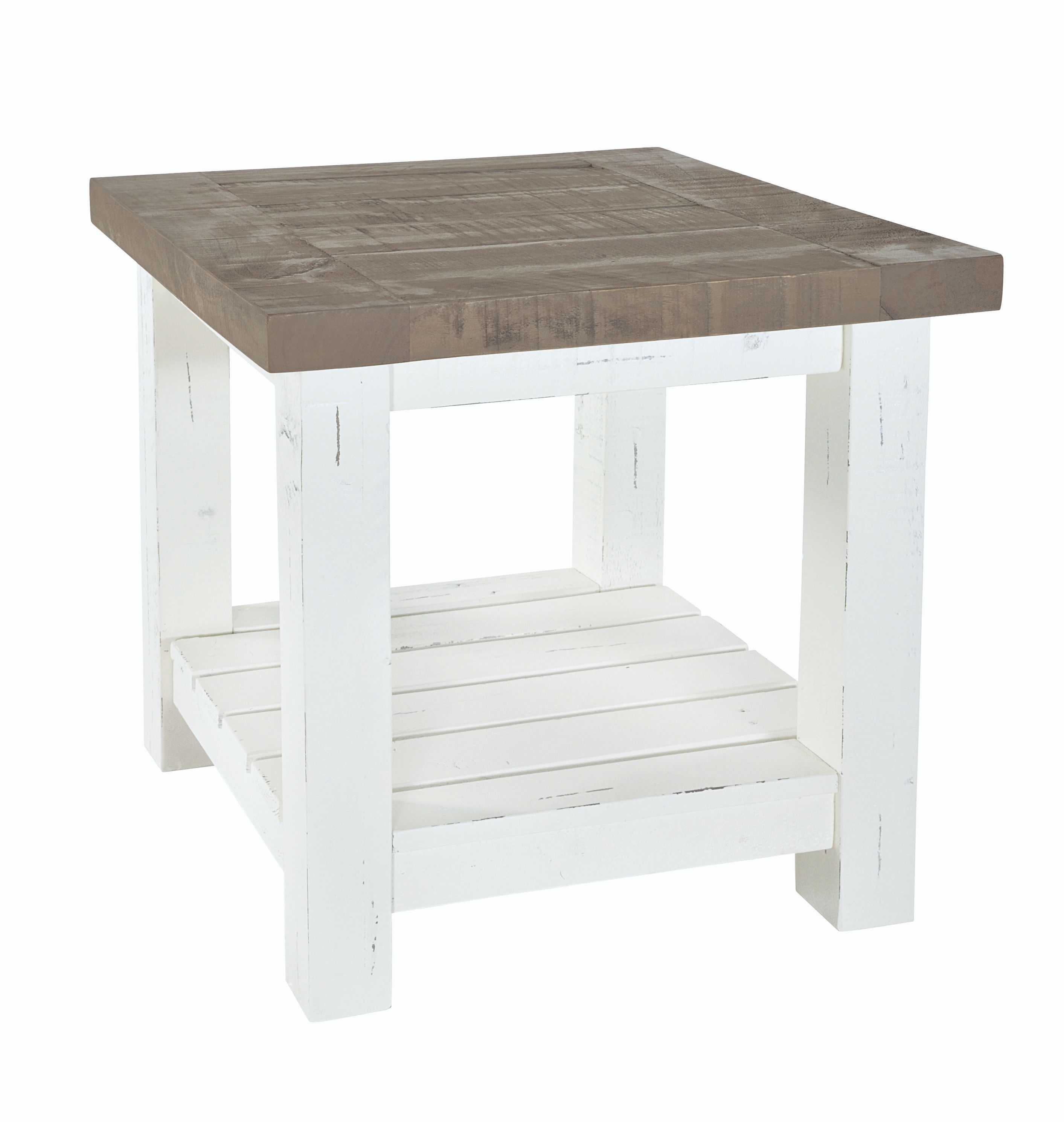 PURBECK LAMP TABLE Distressed Paint & Driftwood