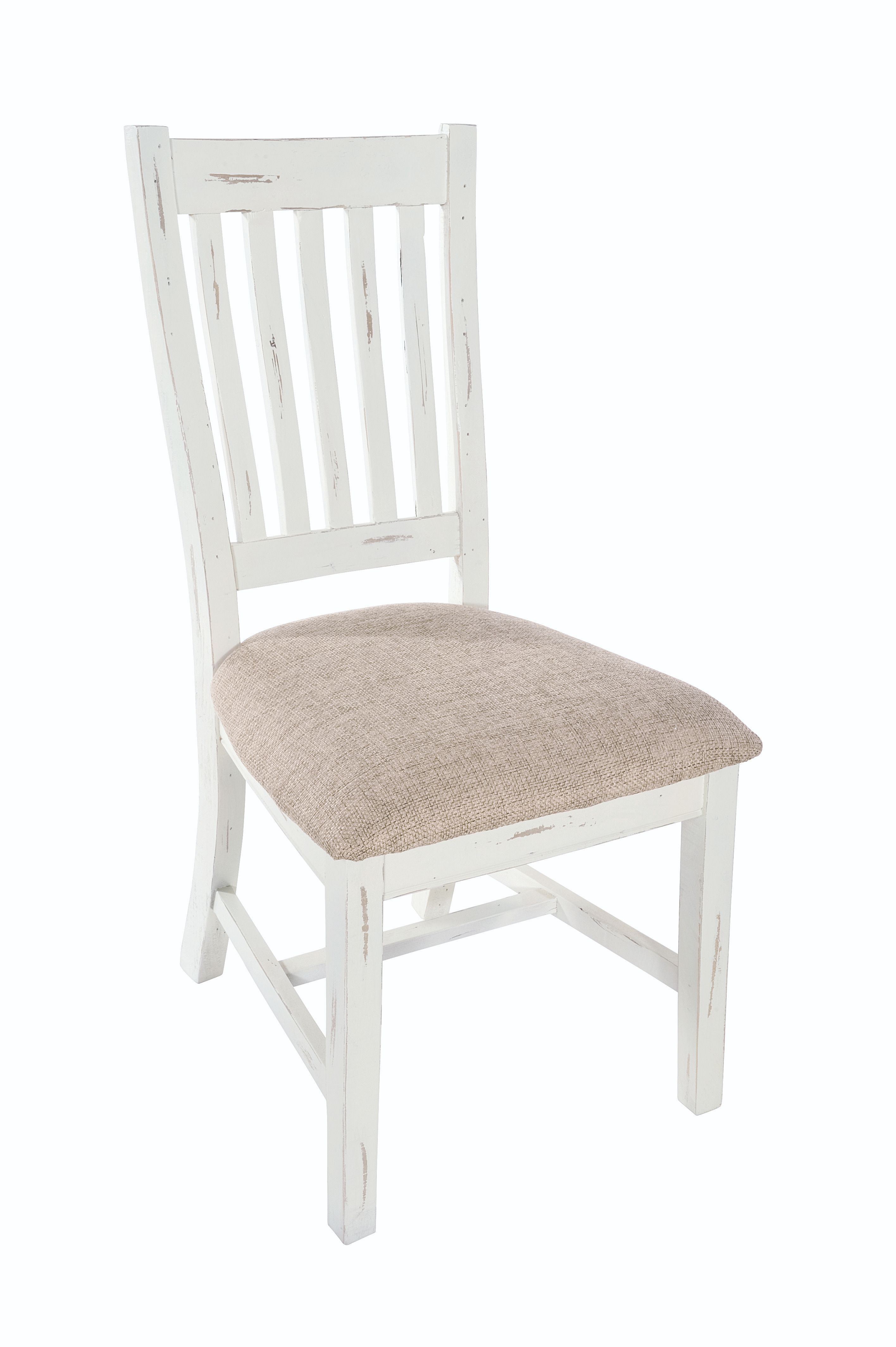 PURBECK DINING CHAIR Distressed Paint & Material Pad