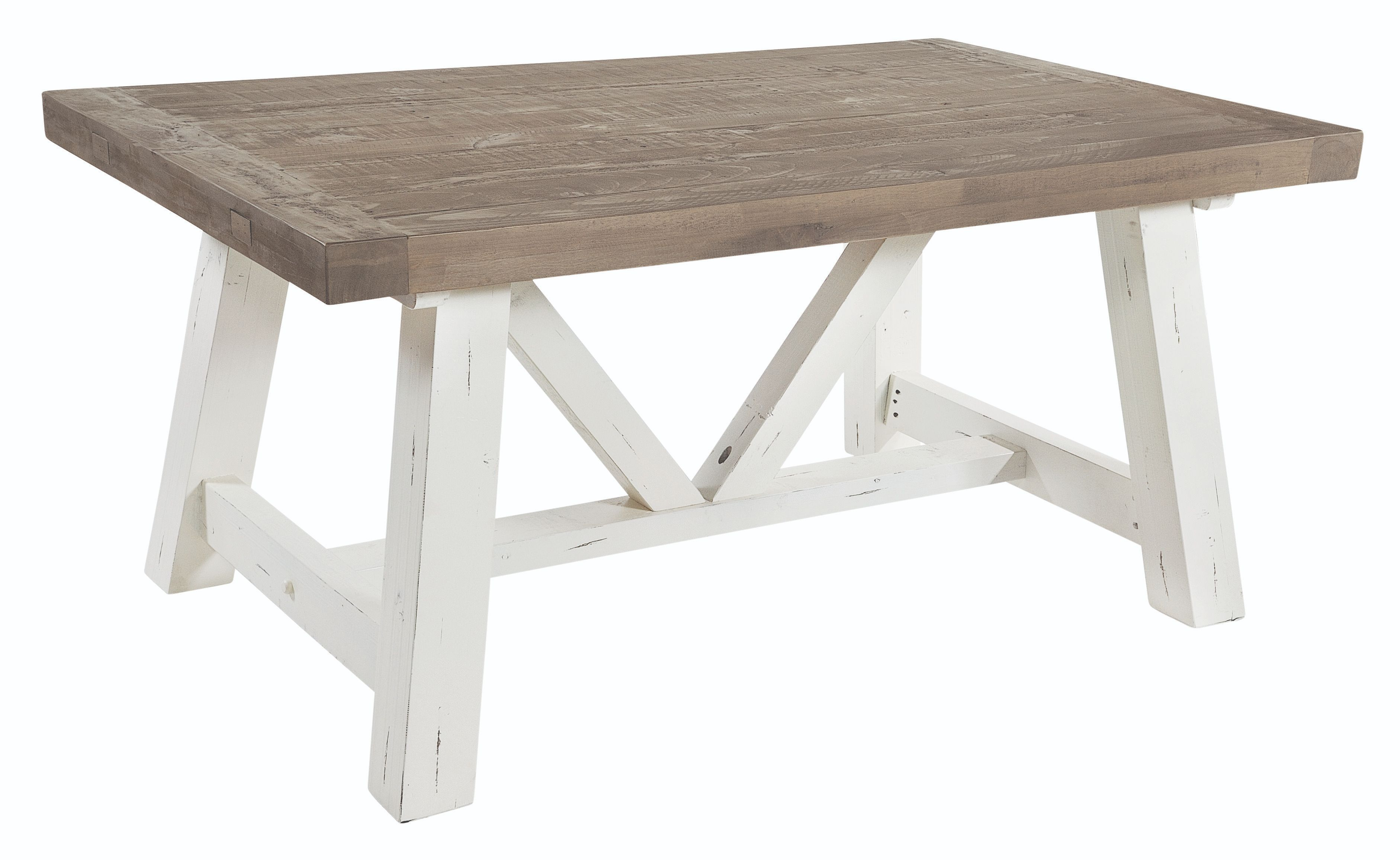 PURBECK 160 EXTENDING TABLE Distressed Paint & Driftwood