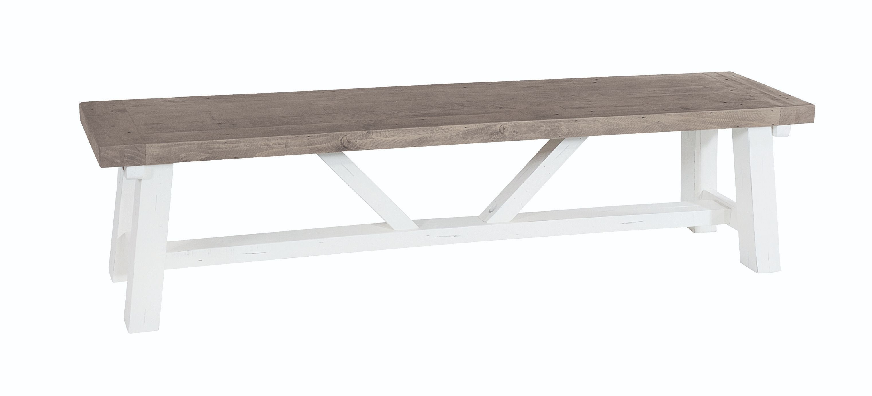 PURBECK 140 BENCH Distressed Paint & Driftwood