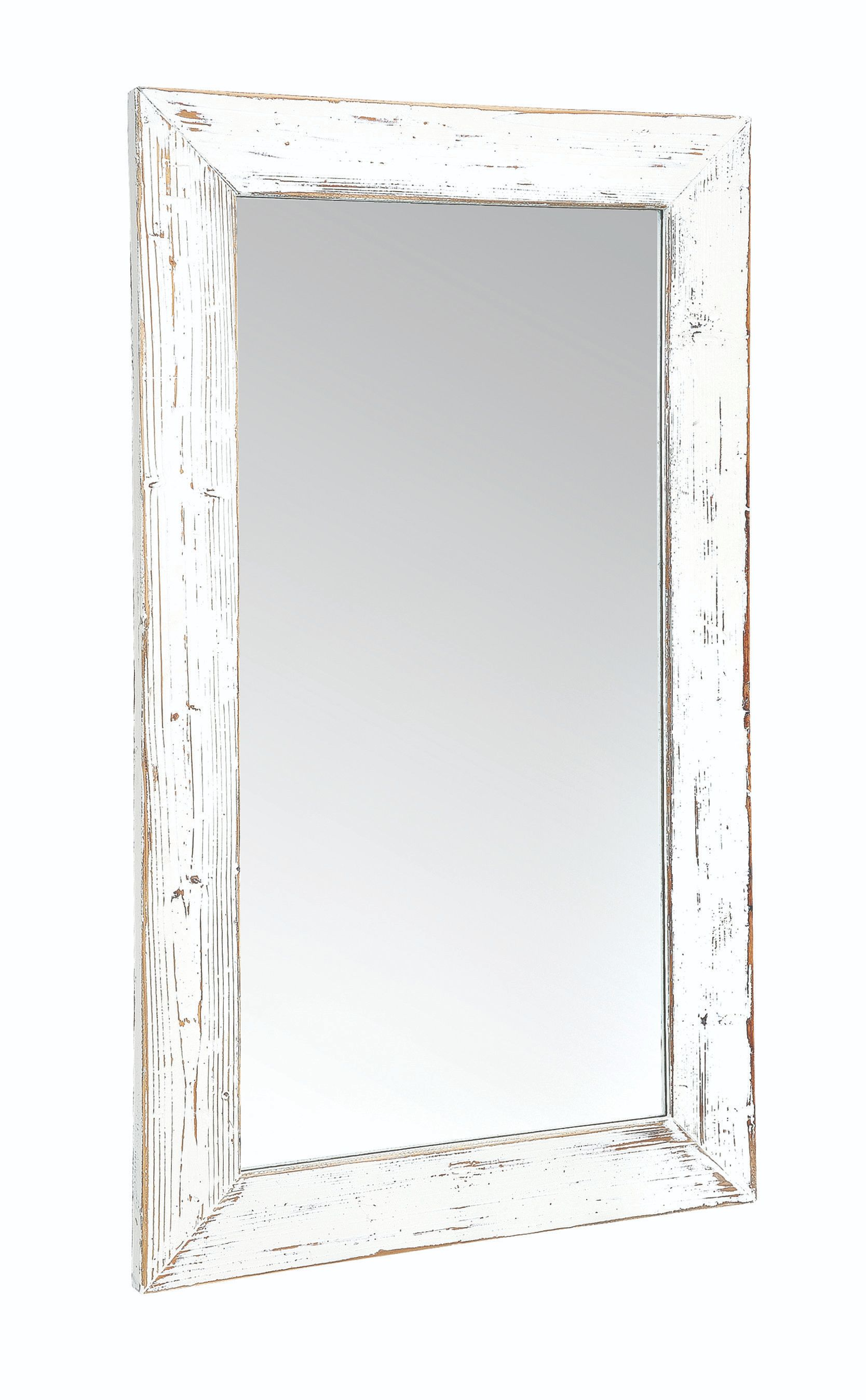 PURBECK WALL MIRROR Distressed Paint & Driftwood