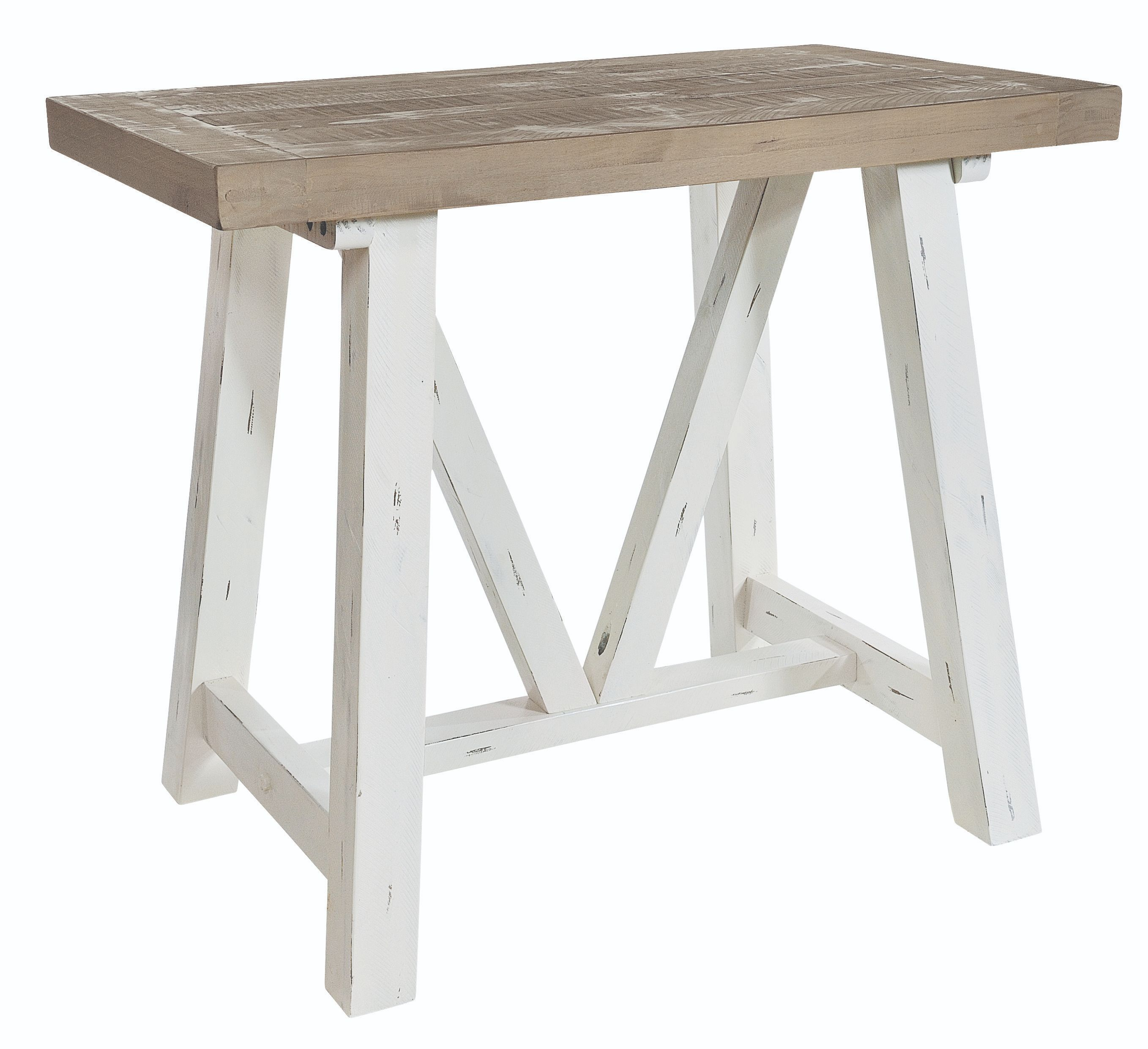 PURBECK BAR TABLE Distressed Paint & Driftwood