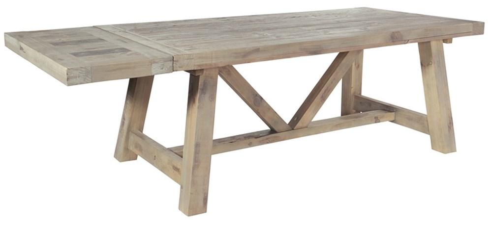 SALTASH 160 EXTENDING TABLE Driftwood