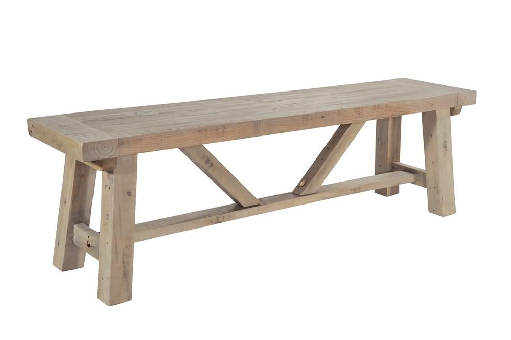 SALTASH 140 BENCH Driftwood