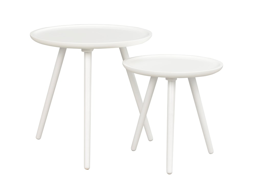 DAISY Nest of Tables in White Lacquered Wood