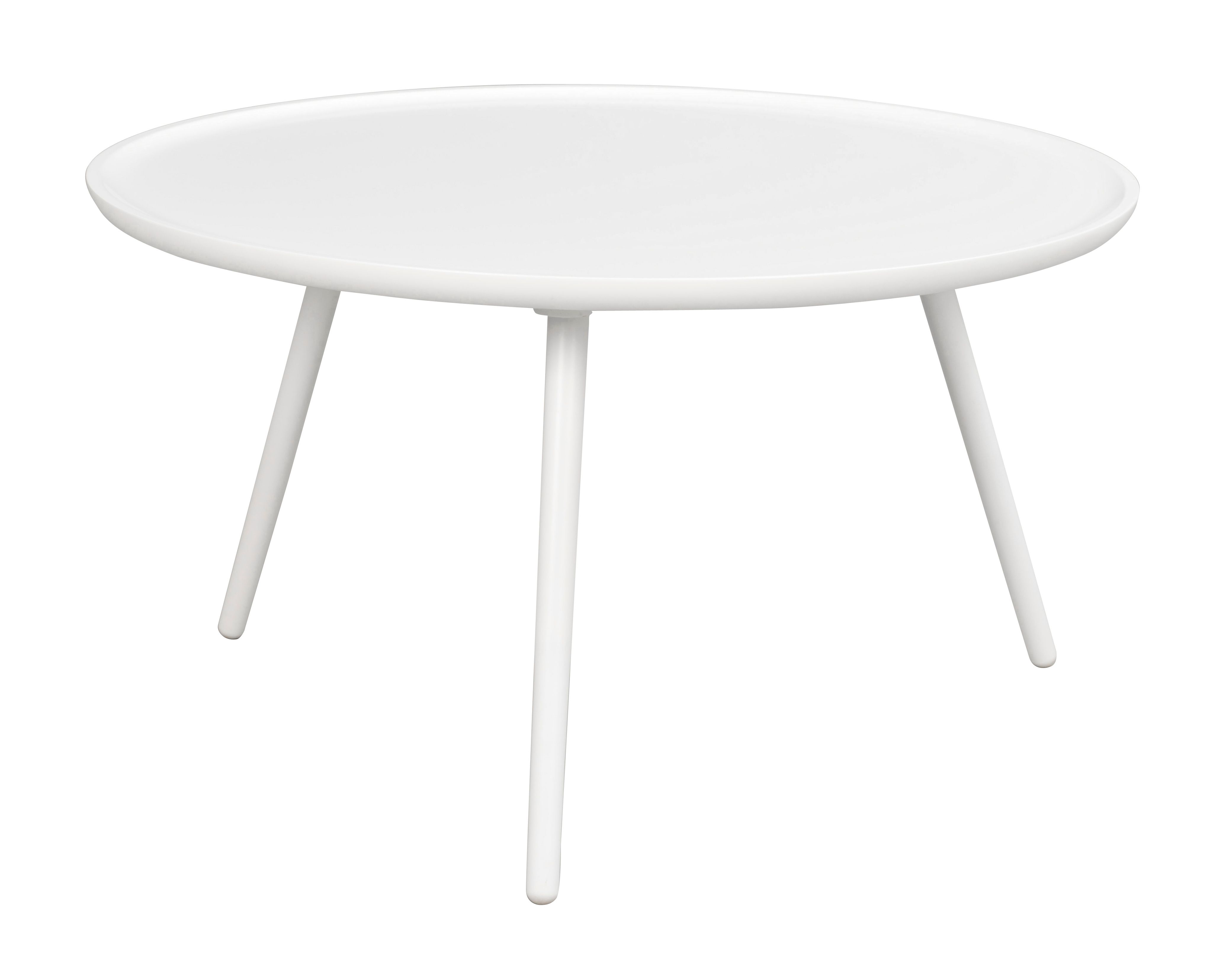DAISY Large Coffee Table in White Lacquered Wood