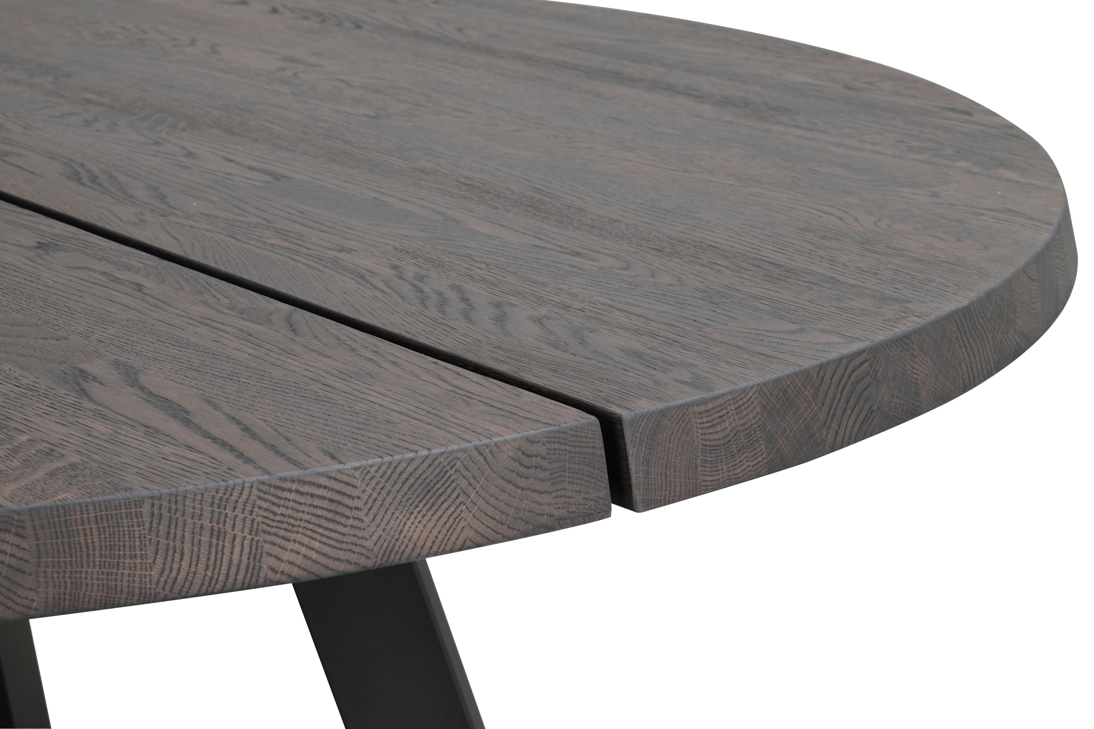 FRED DARK OAK Round Dining Table