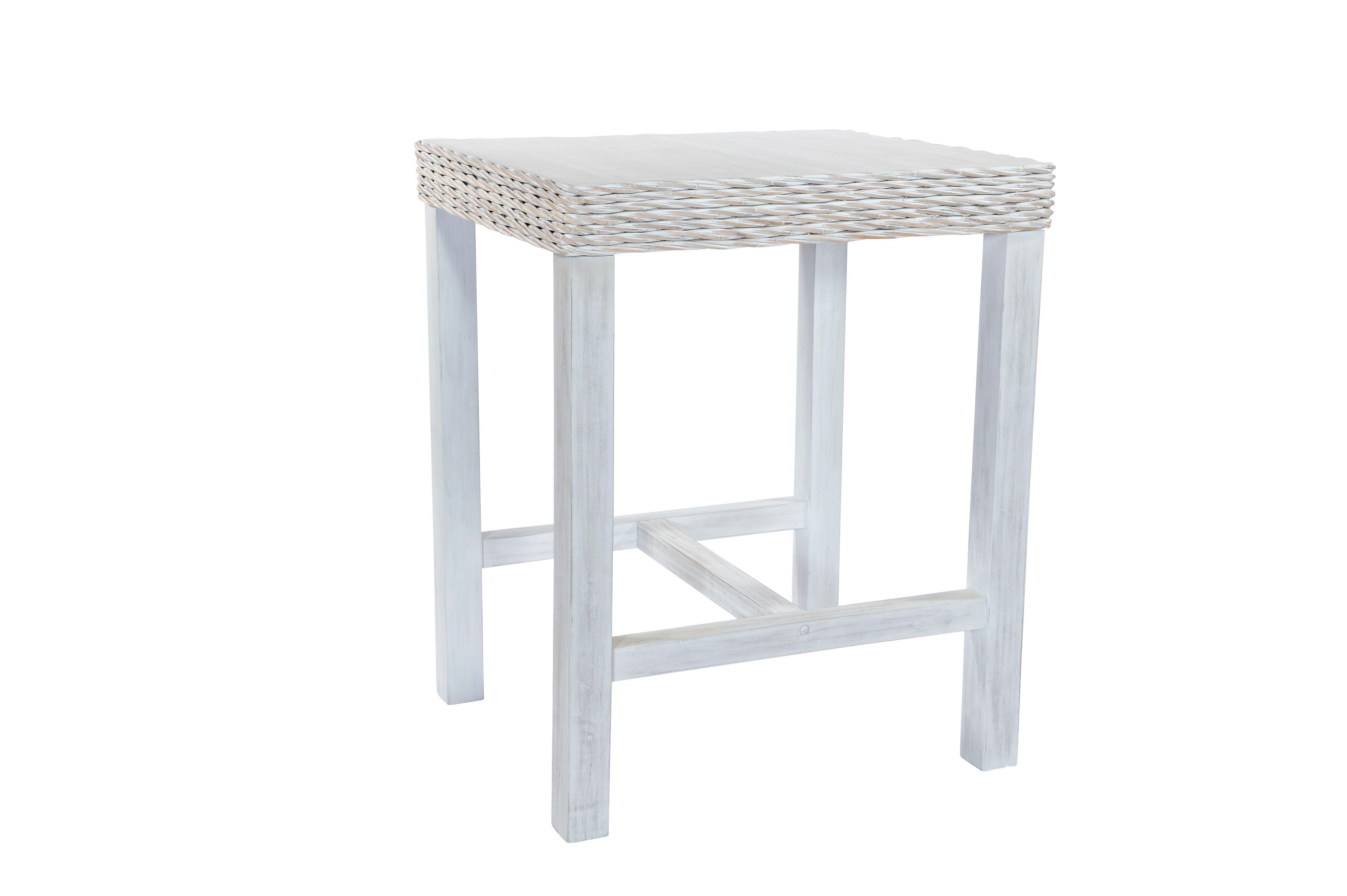MAYA White Wash Rattan Bar Table