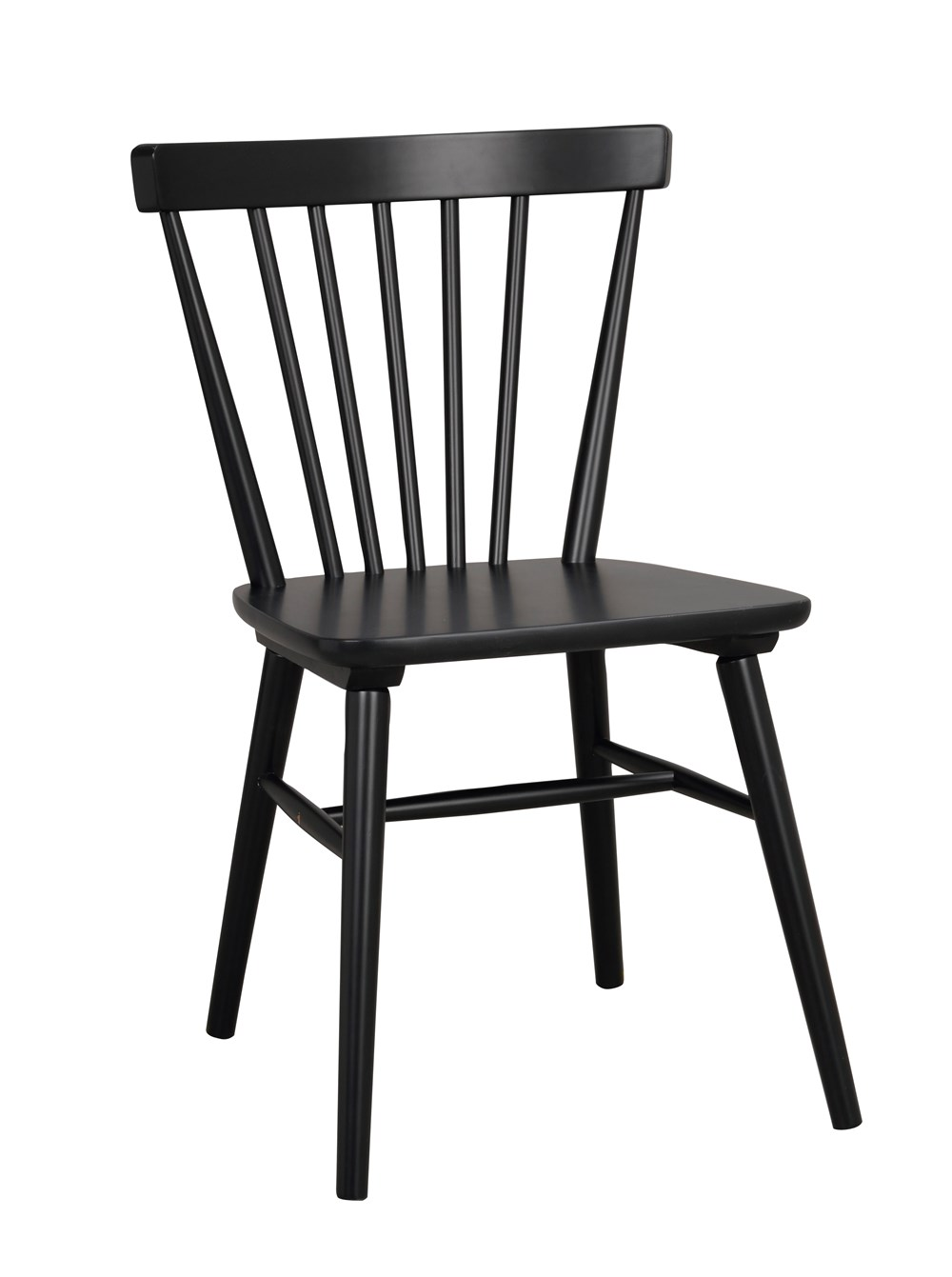AKITA CHAIR Black Rubberwood Chair