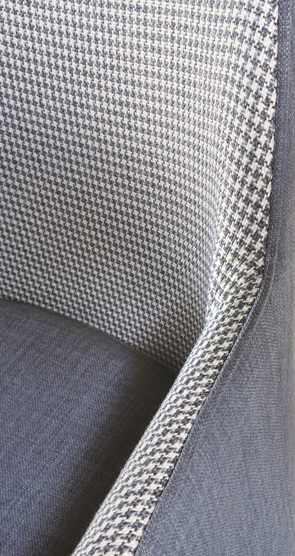 LOUISE Dining Chair in Blue Houndstooth with Black Legs