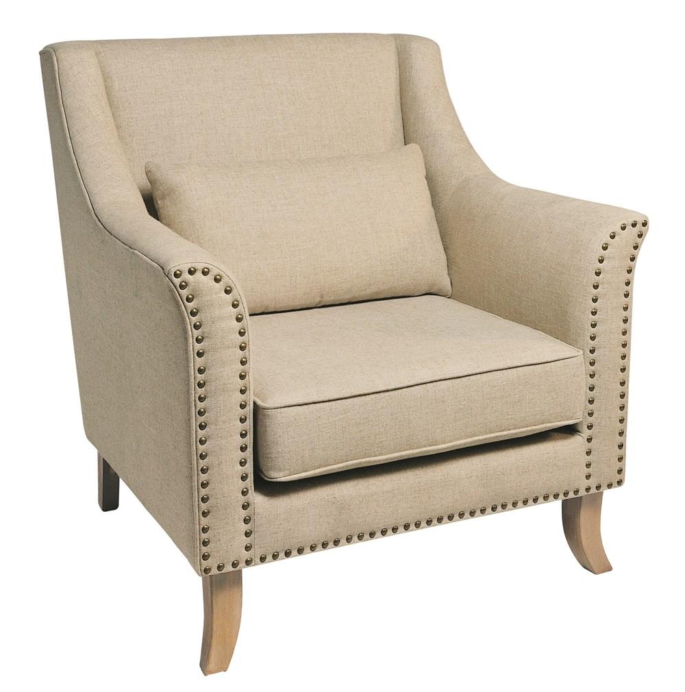 STELLA Cream Upholstered Armchair