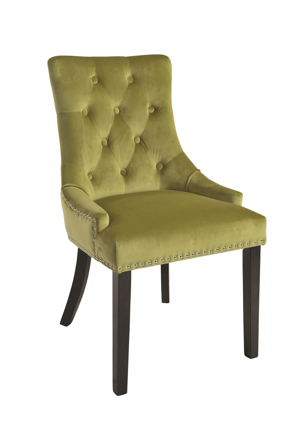 VICKY CHAIR Golden Lime Upholstered Chair with Black Legs