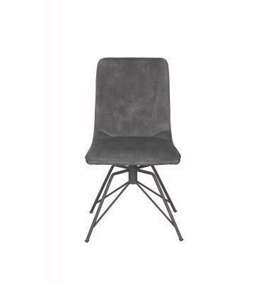 Lola Dining Chair (Grey Velvet)