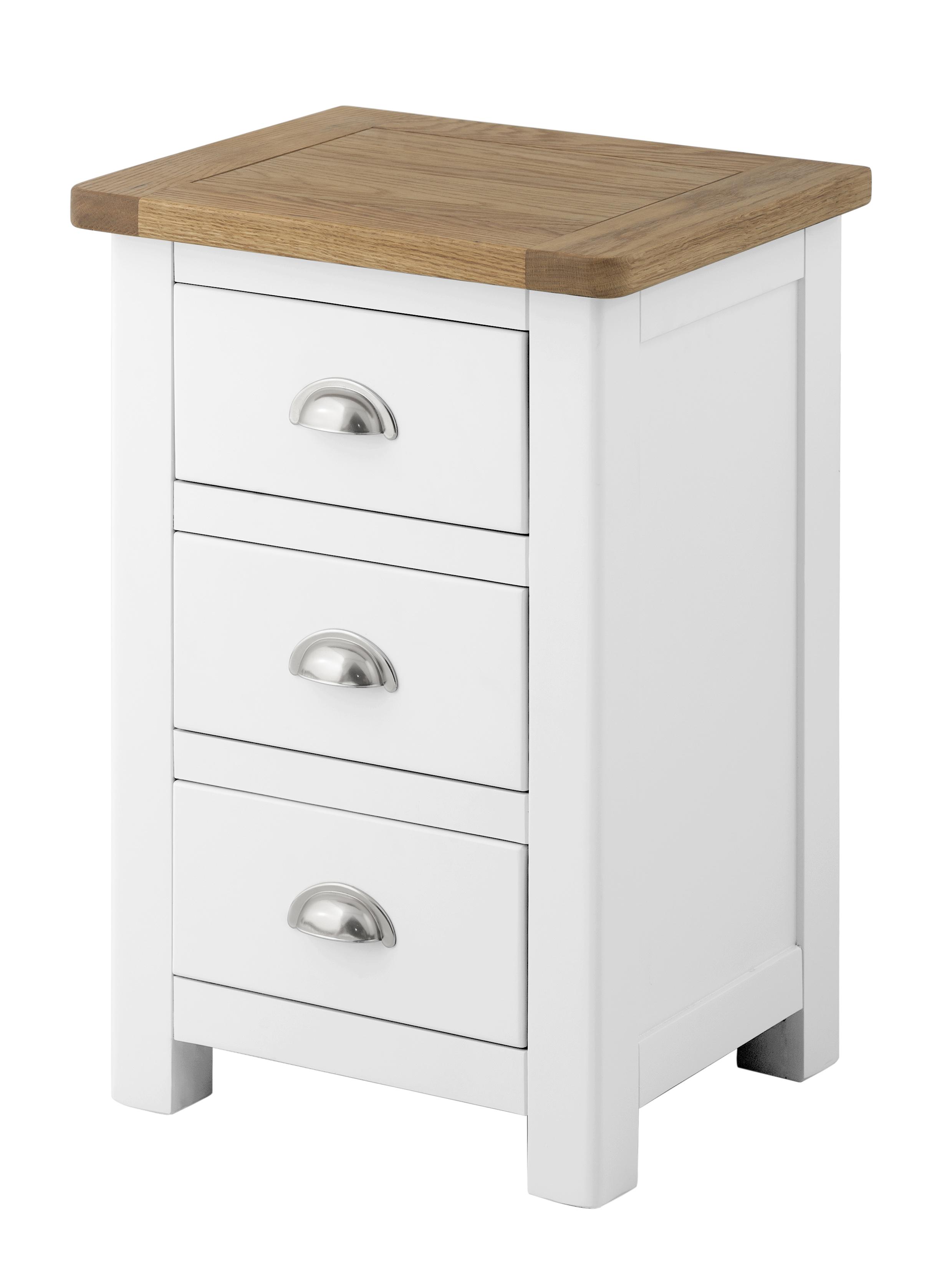 PRESTON 3 Drawer Bedside Cabinet