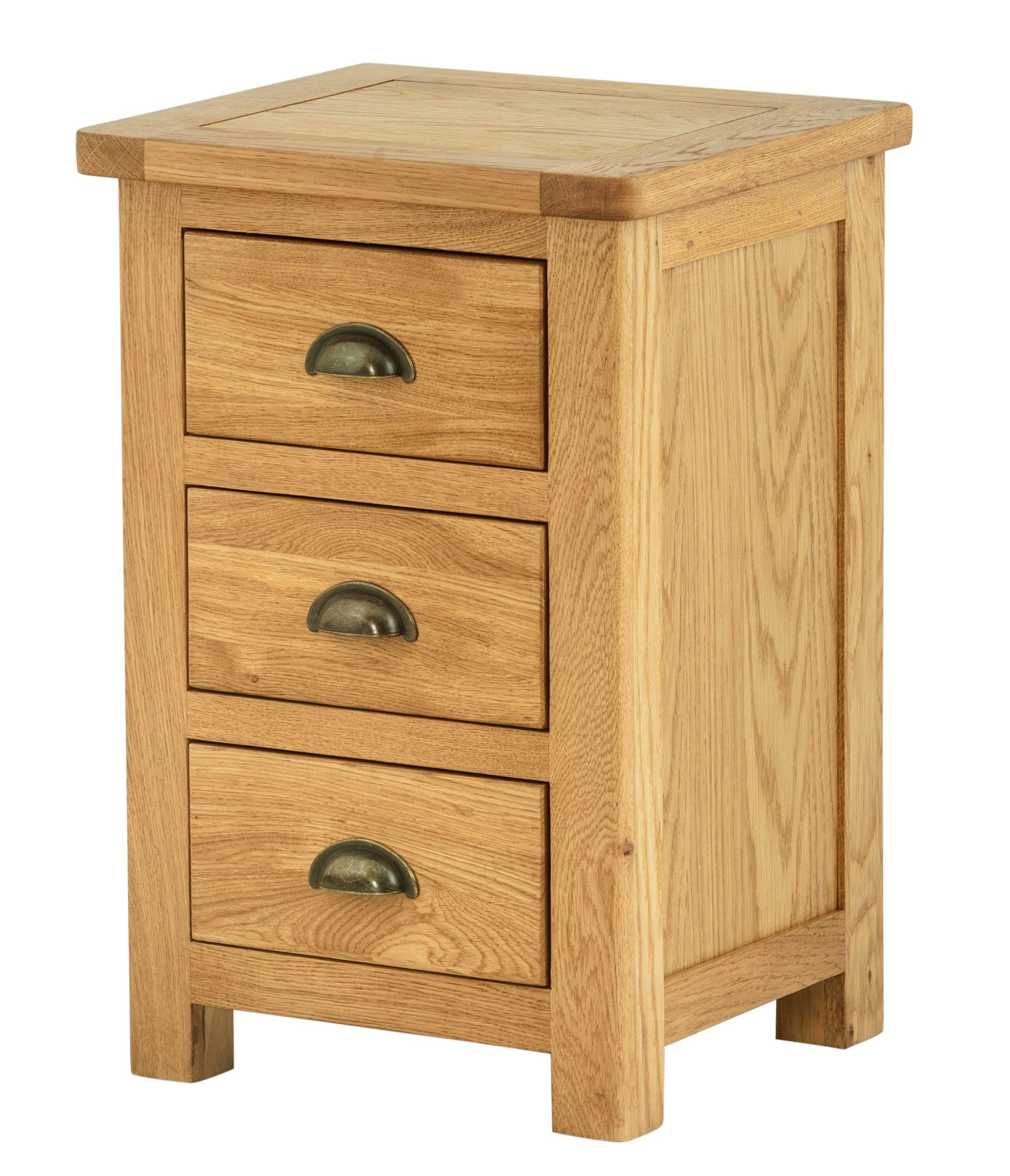 PRESTON GRAND 3 Drawer Bedside Cabinet