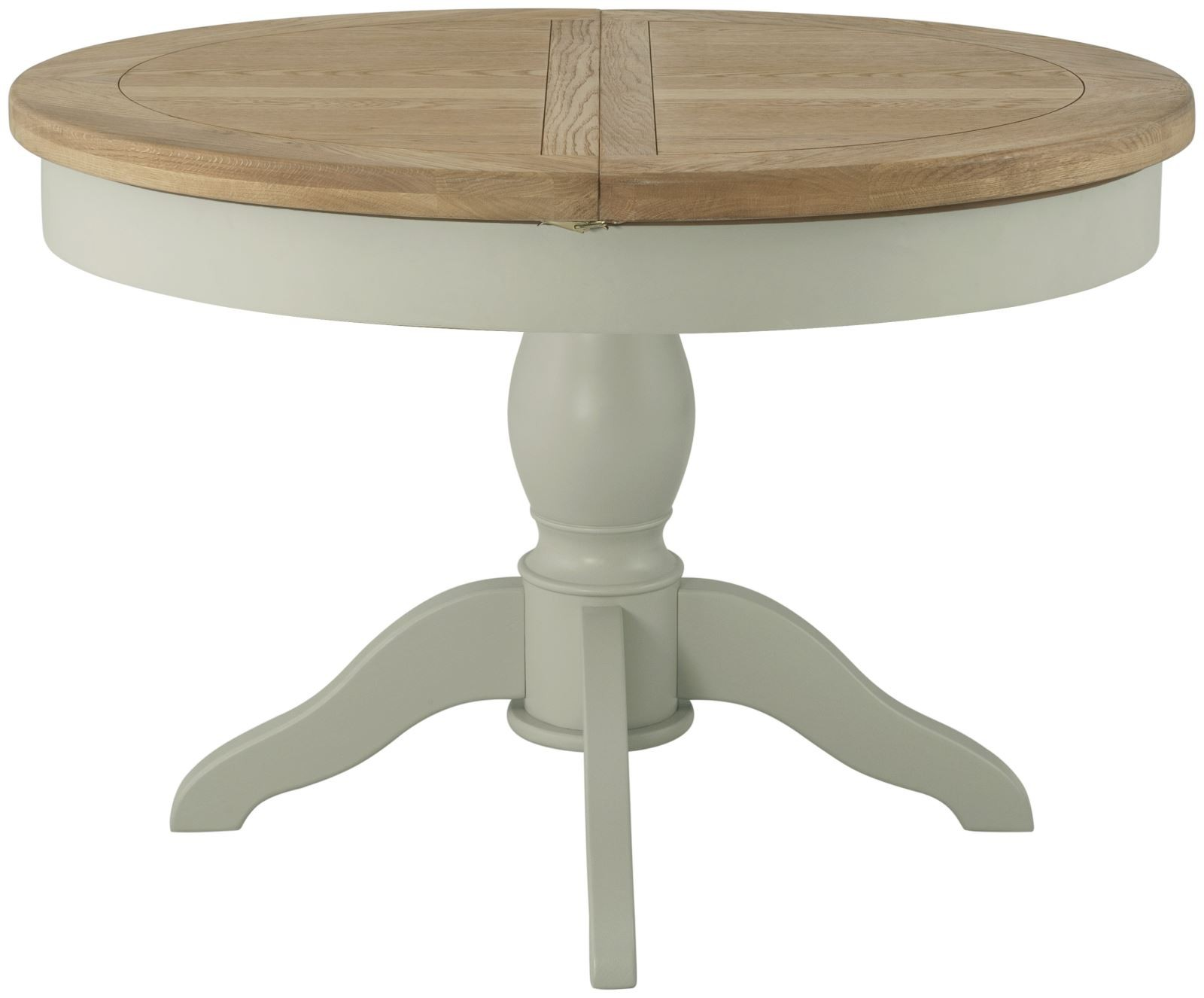 PRESTON Round Butterfly Extending Dining Table