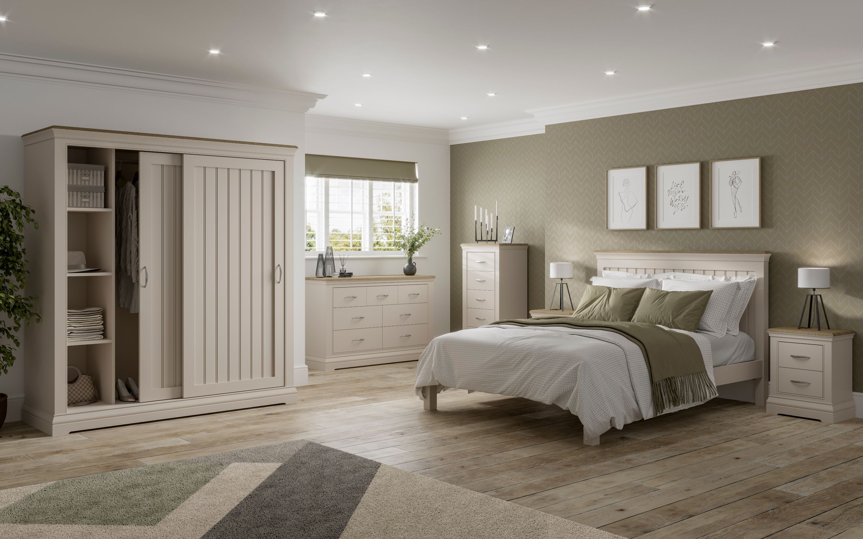 Devonshire Pine - COBBLE - Bedroom
