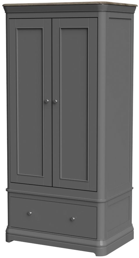 PABLO Double Wardrobe with Drawer
