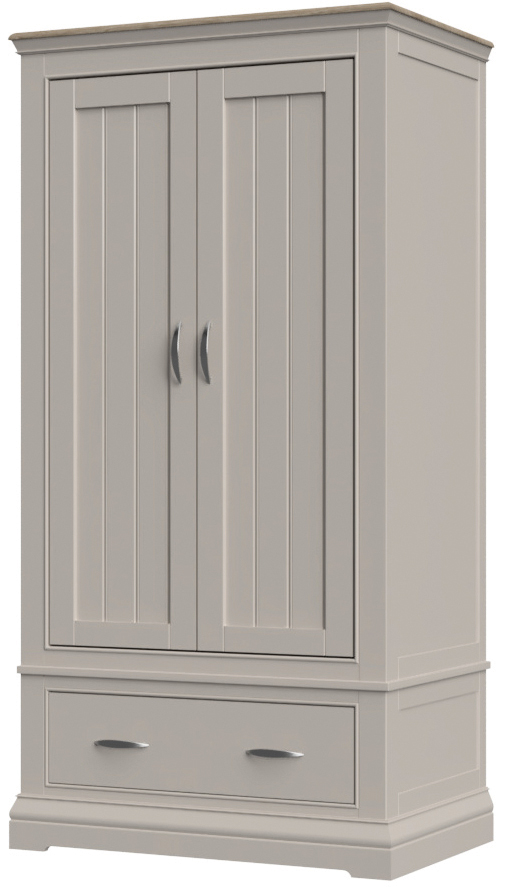 COBBLE Double Wardrobe with Drawer