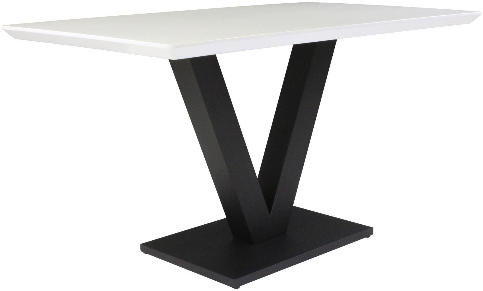 LARSON Dining Table - White Gloss
