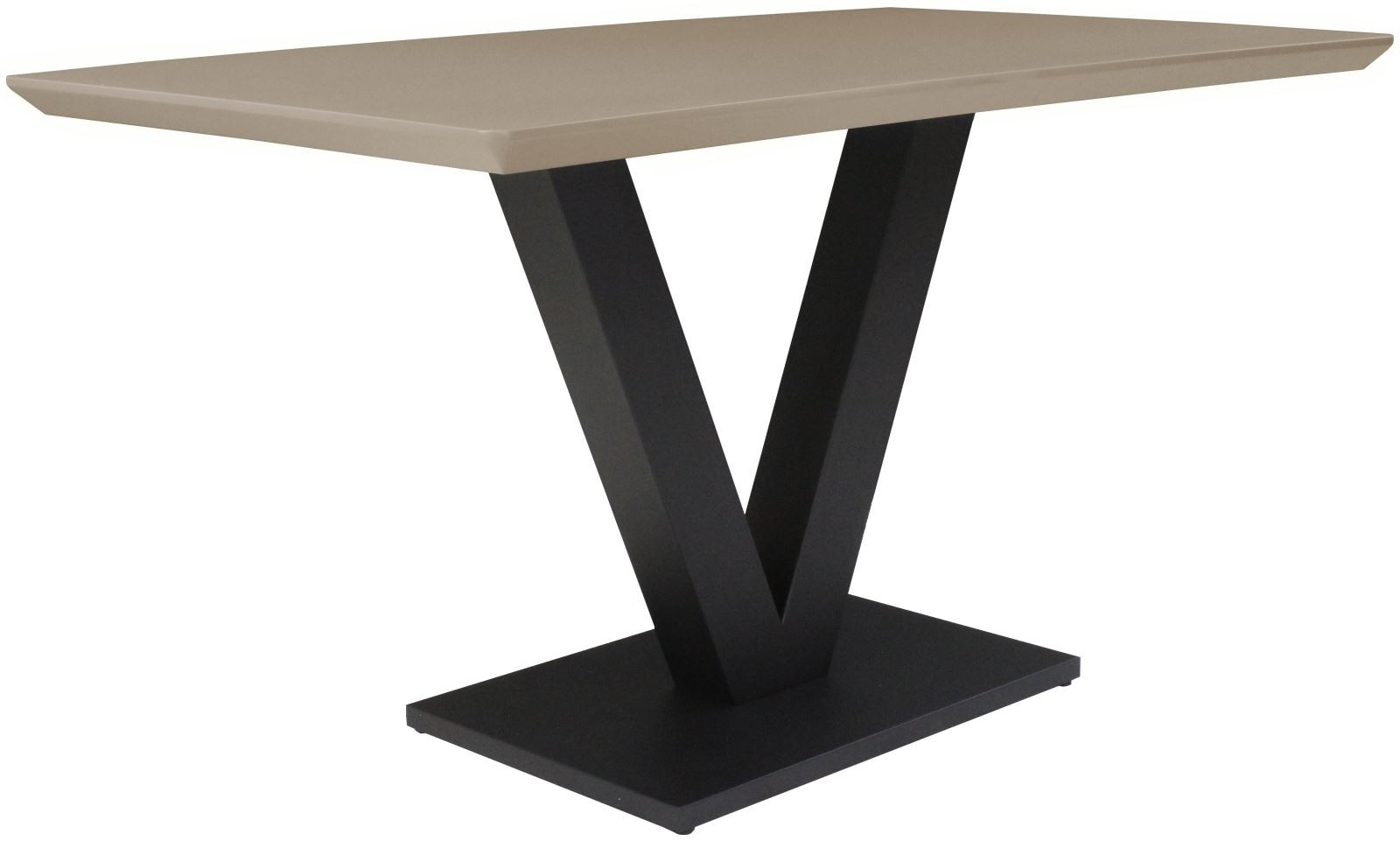 LARSON Dining Table - Cappuccino Gloss