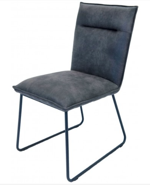 LARSON Dining Chair - Grey Suede