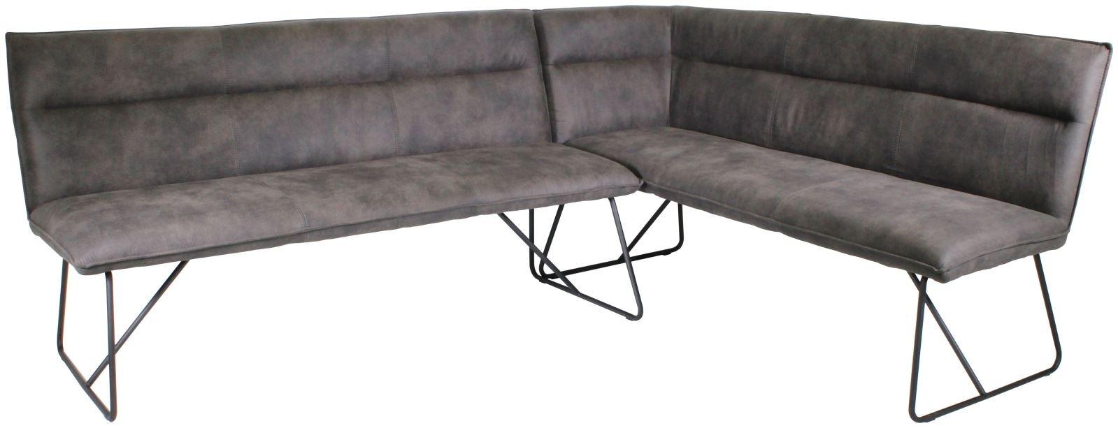 LARSON Corner Bench Set (RH) - Grey Suede