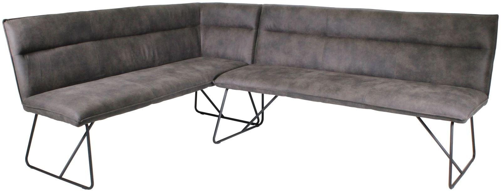 LARSON Corner Bench Set (LH) - Grey Suede