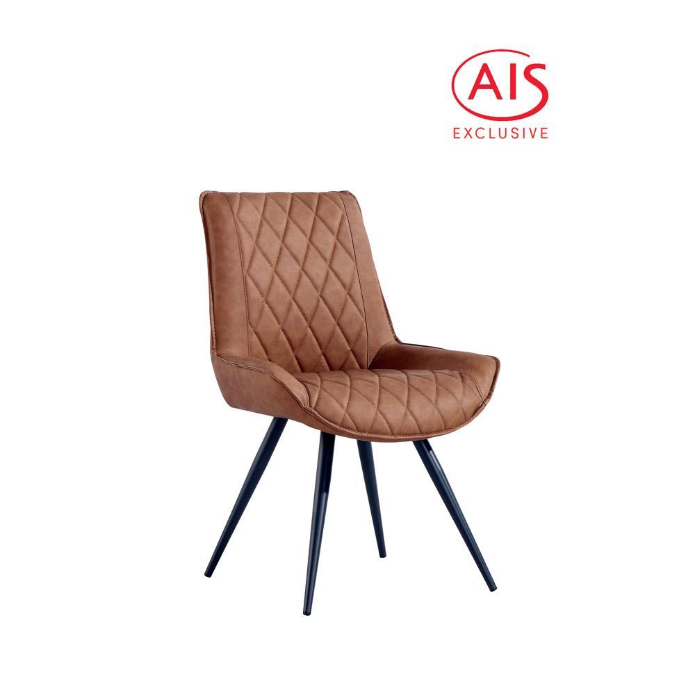 Diamond Stitch Dining Chair - Tan PU