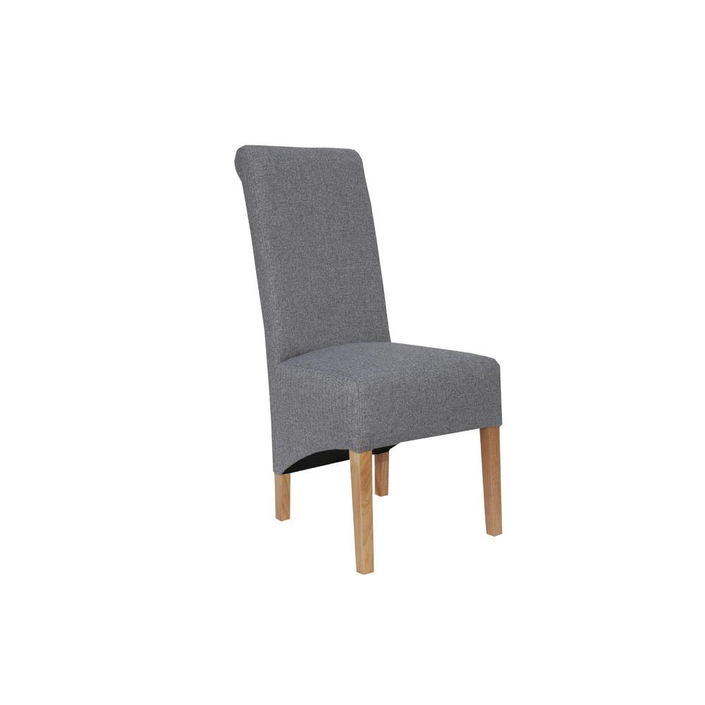 Scroll Back Chair - Light Grey