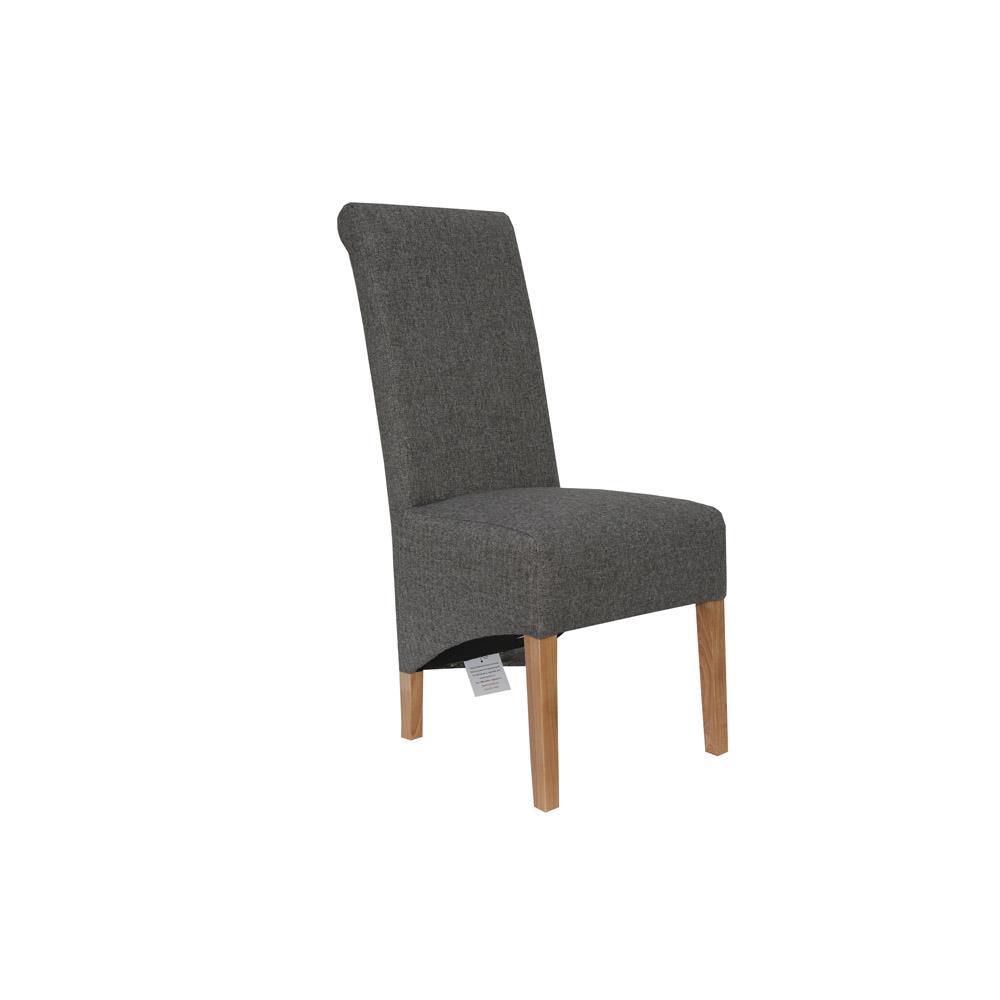 Scroll Back Chair - Dark Grey