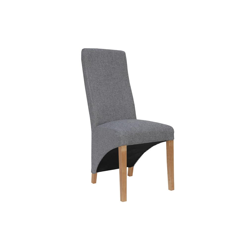 Wave Back Chair - Light Grey