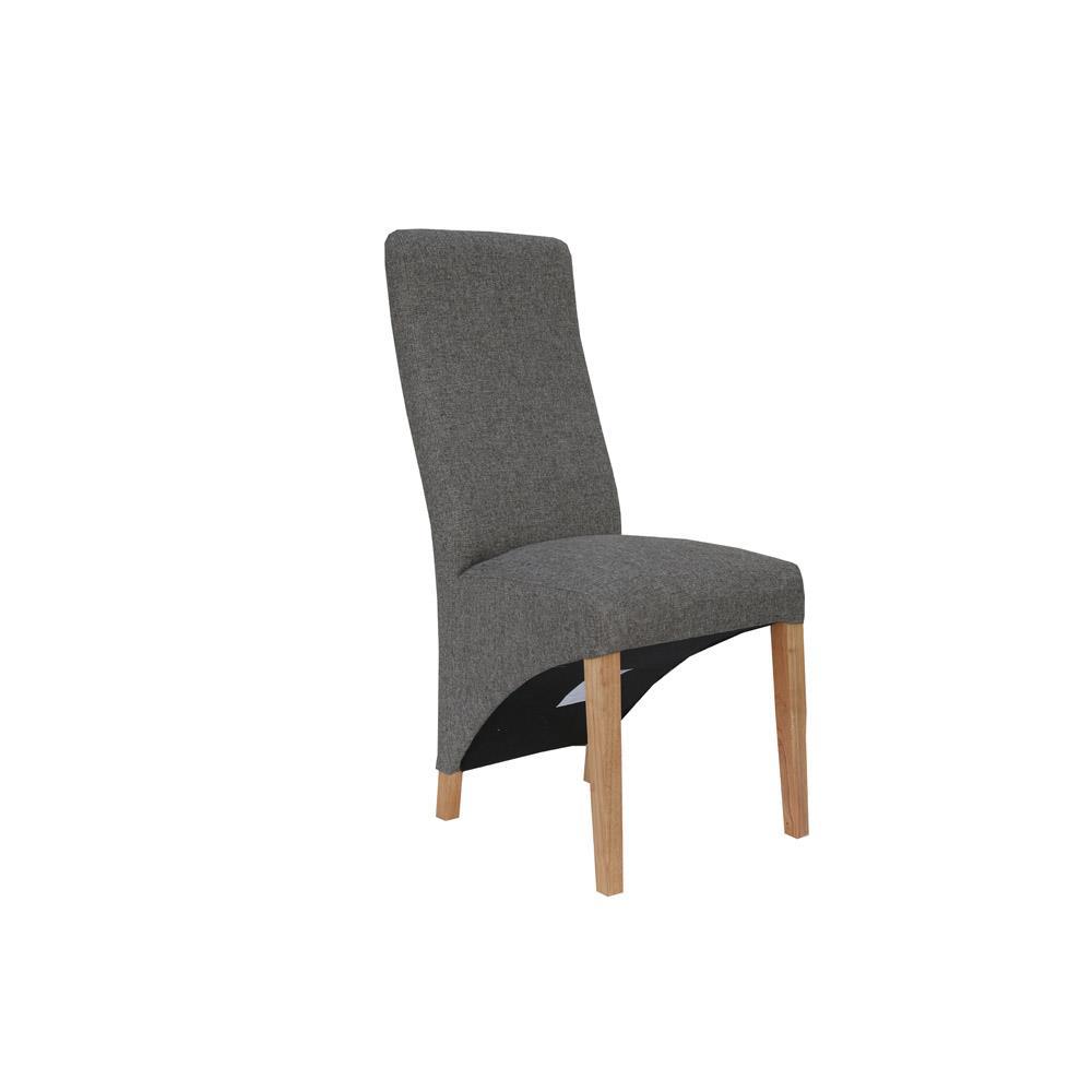 Wave Back Chair - Dark Grey