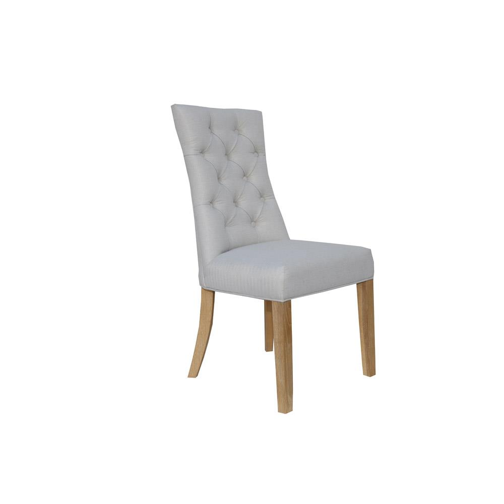 Curved Button Back Chair - Natural