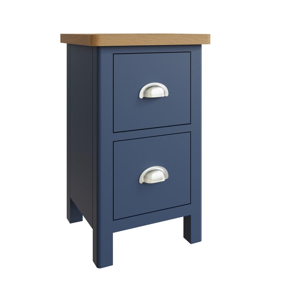 RAYWELL Painted Small Bedside Cabinet (Blue)