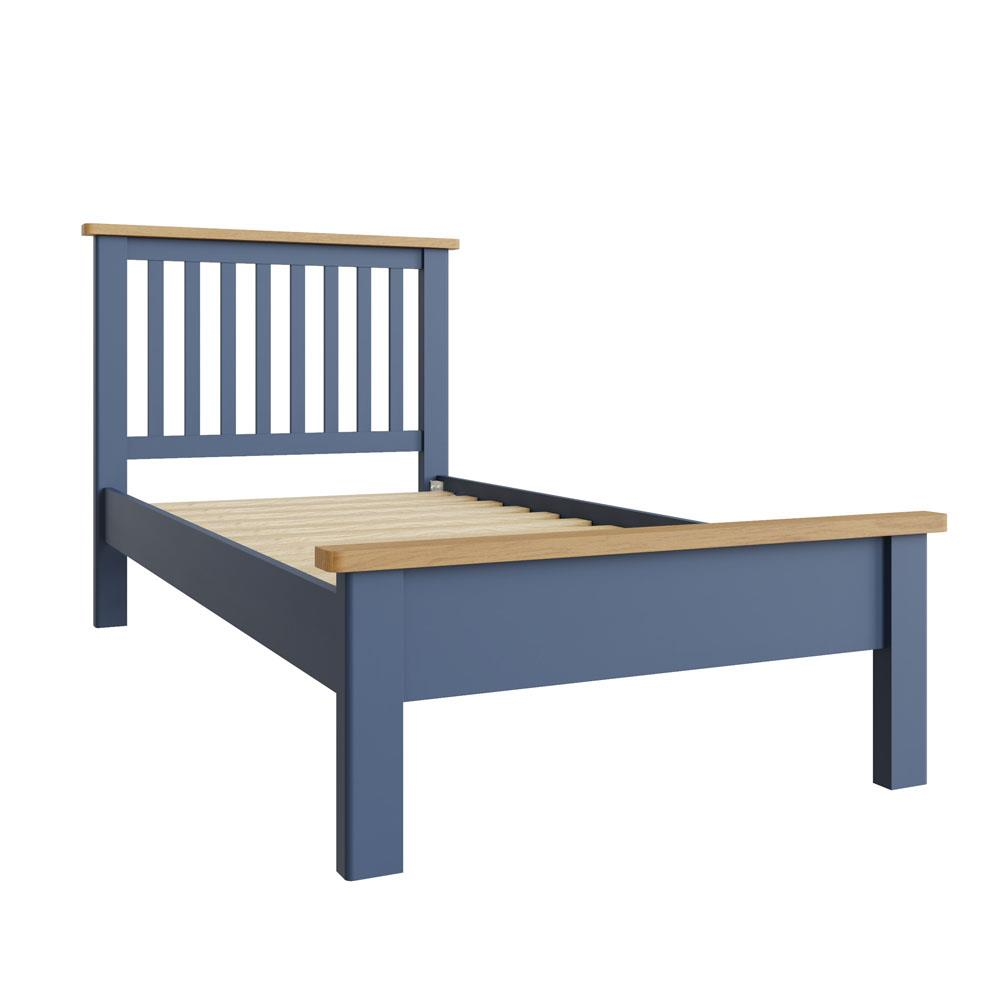 """RAYWELL Painted 3'0"""" Bed (Blue)"""