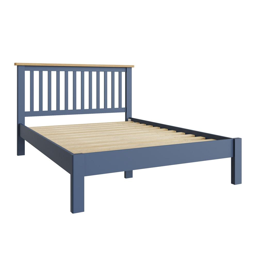 """RAYWELL Painted 4'6"""" Bed (Blue)"""